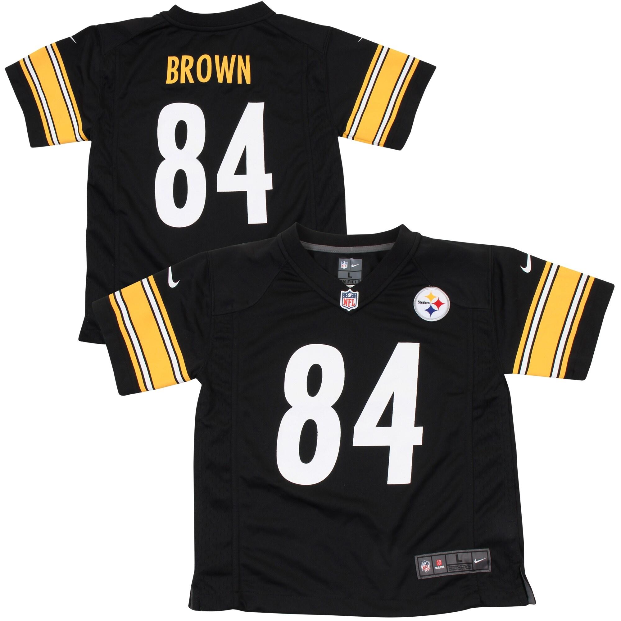 Antonio Brown Pittsburgh Steelers Nike Preschool Game Jersey - Black