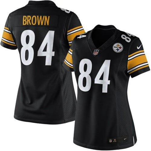 Antonio Brown Pittsburgh Steelers Nike Girls Youth Game Jersey - Black