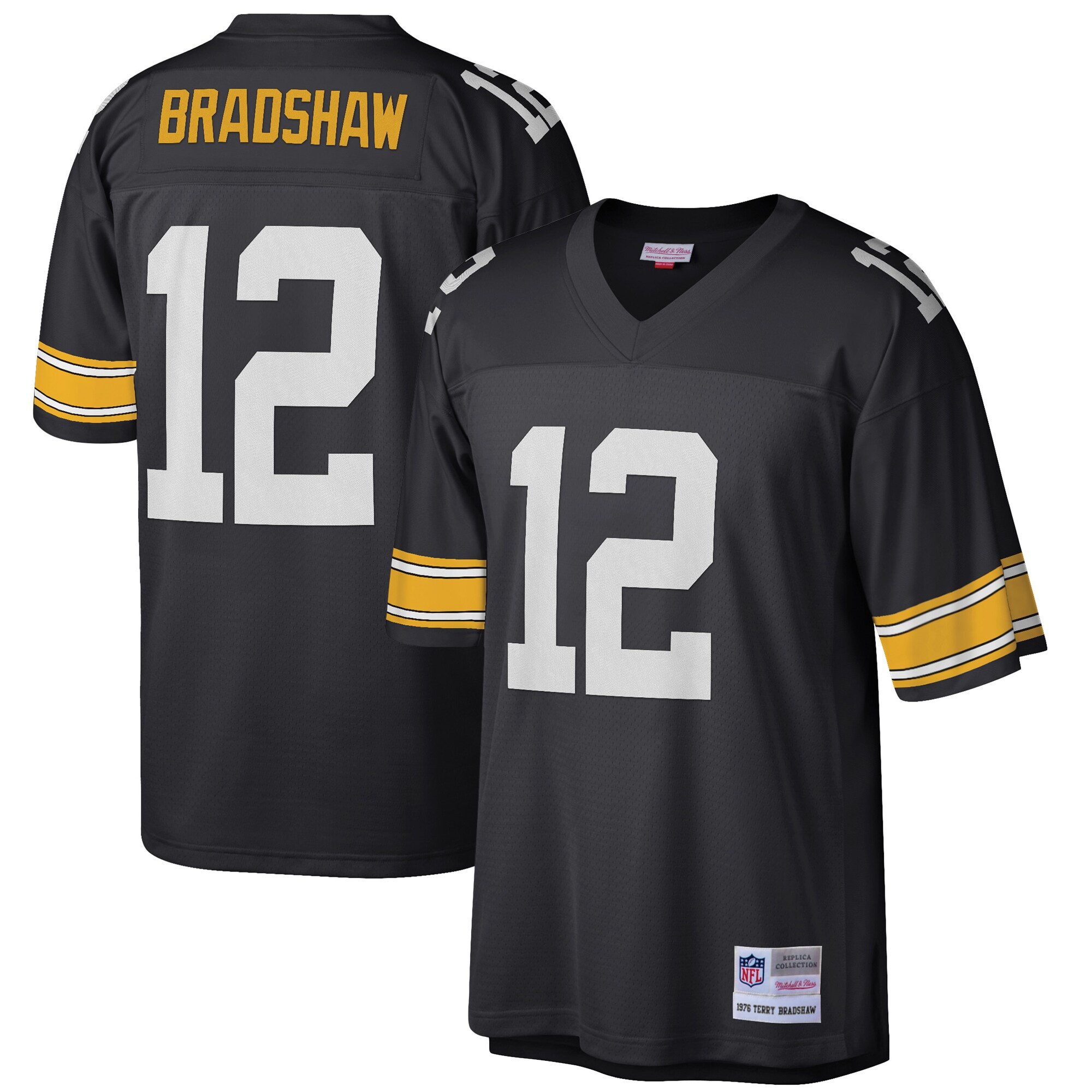 Terry Bradshaw Pittsburgh Steelers Mitchell & Ness Retired Player Legacy Replica Jersey - Black