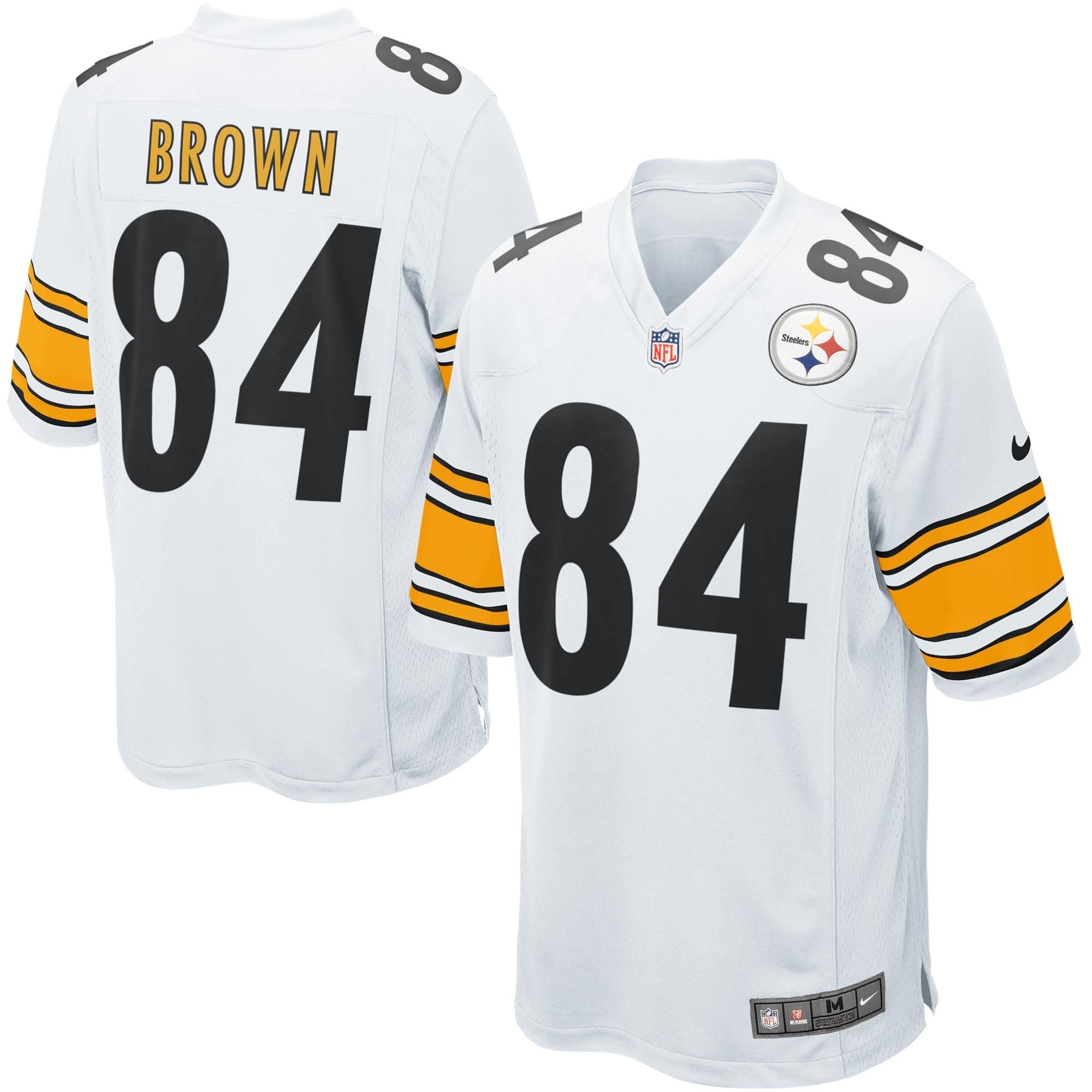 Antonio Brown Pittsburgh Steelers Nike Game Jersey - White