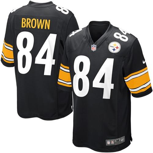 Antonio Brown Pittsburgh Steelers Nike Youth Team Color Game Jersey - Black
