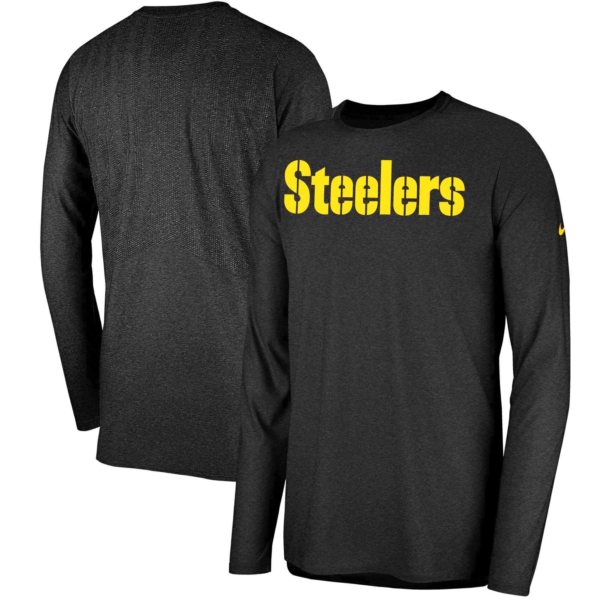 Pittsburgh Steelers Nike Sideline Player Long Sleeve T-Shirt - Black
