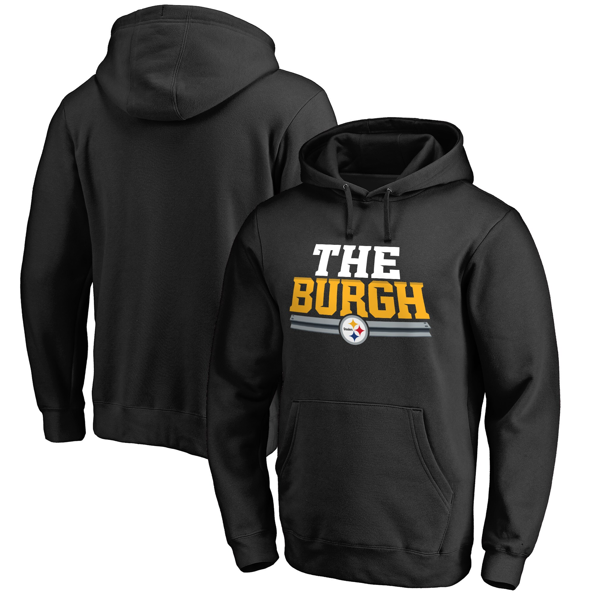 Pittsburgh Steelers NFL Pro Line Hometown Collection The Burgh Pullover Hoodie - Black