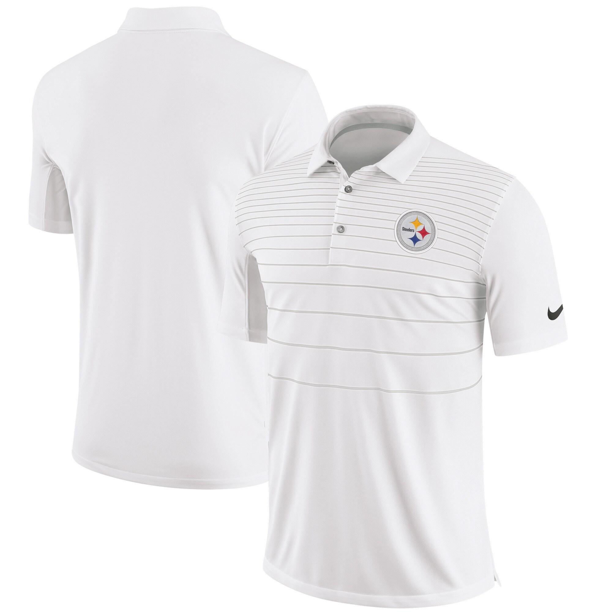Pittsburgh Steelers Nike Sideline Early Season Performance Polo - White