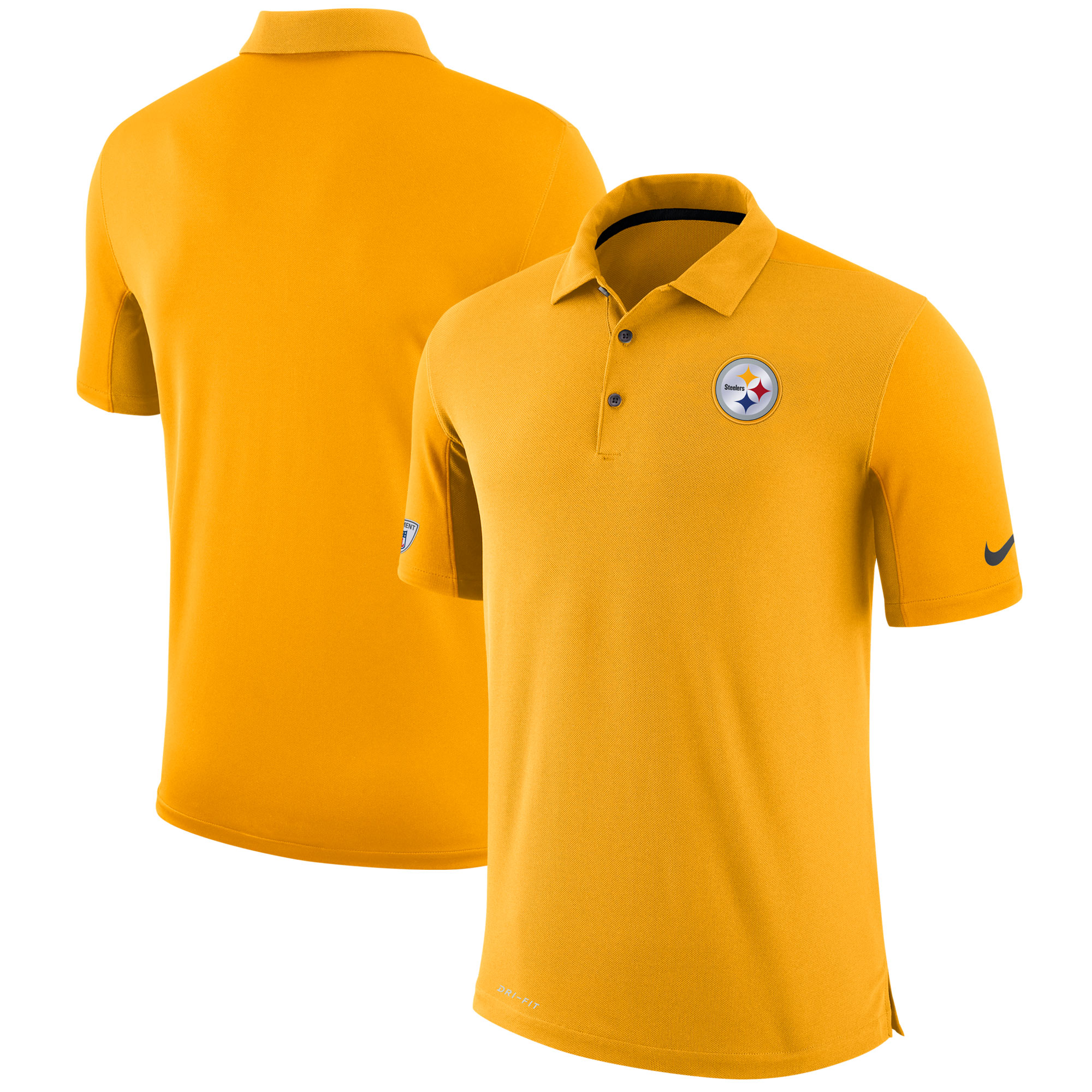 Pittsburgh Steelers Nike Sideline Team Issue Logo Performance Polo - Gold