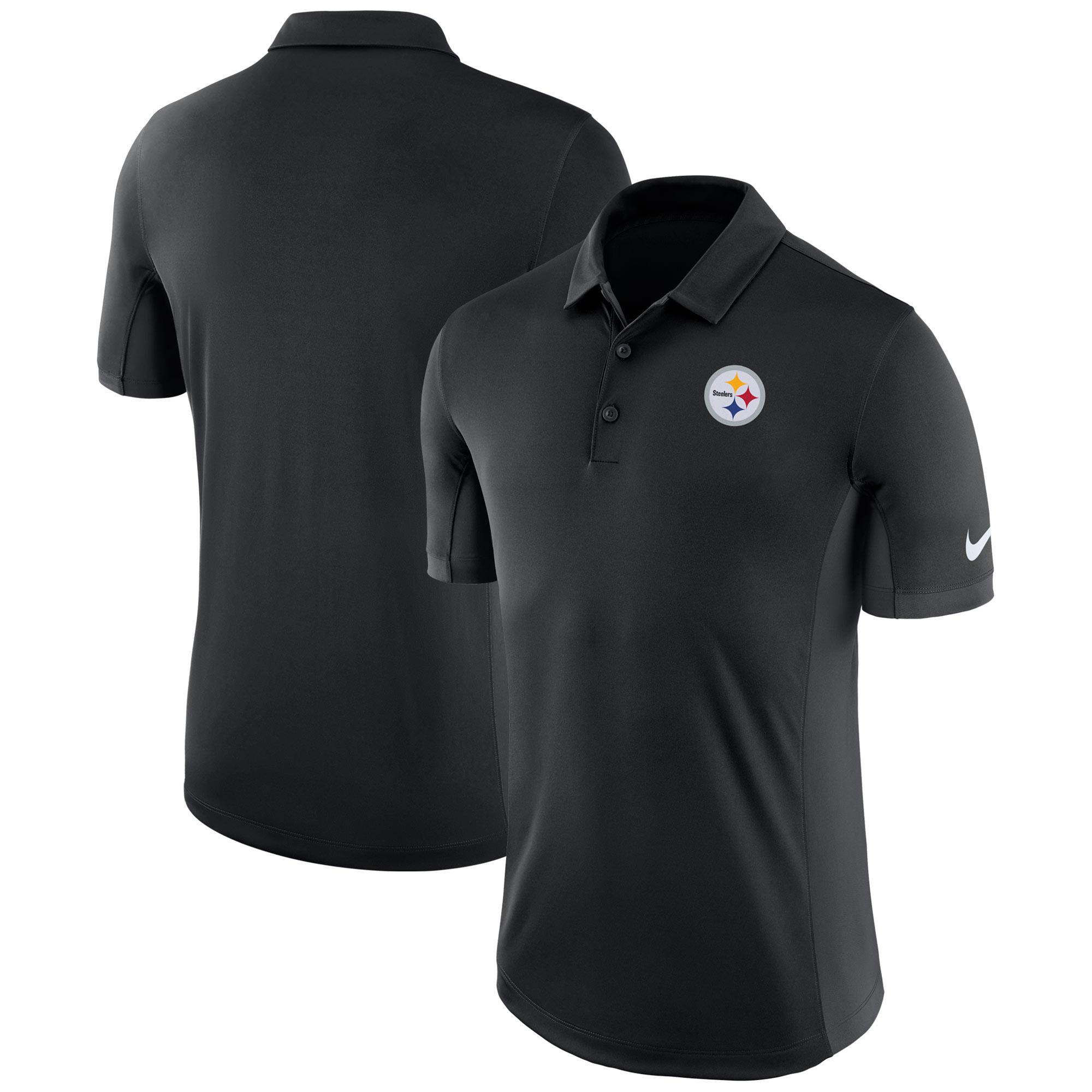 Pittsburgh Steelers Nike Evergreen Performance Polo - Black