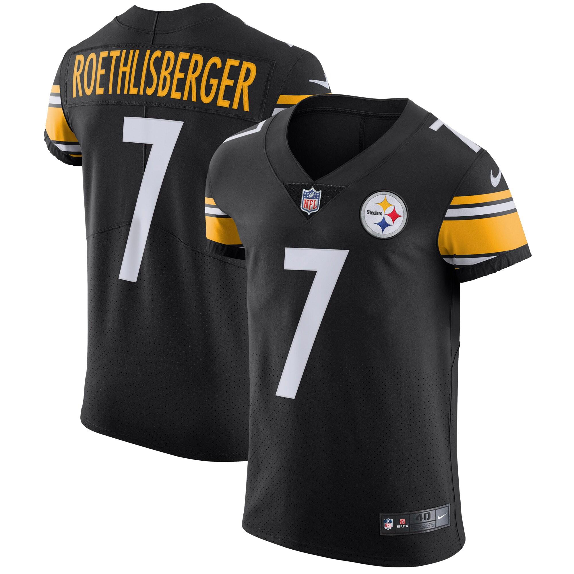 Ben Roethlisberger Pittsburgh Steelers Nike Vapor Untouchable Elite Player Jersey - Black