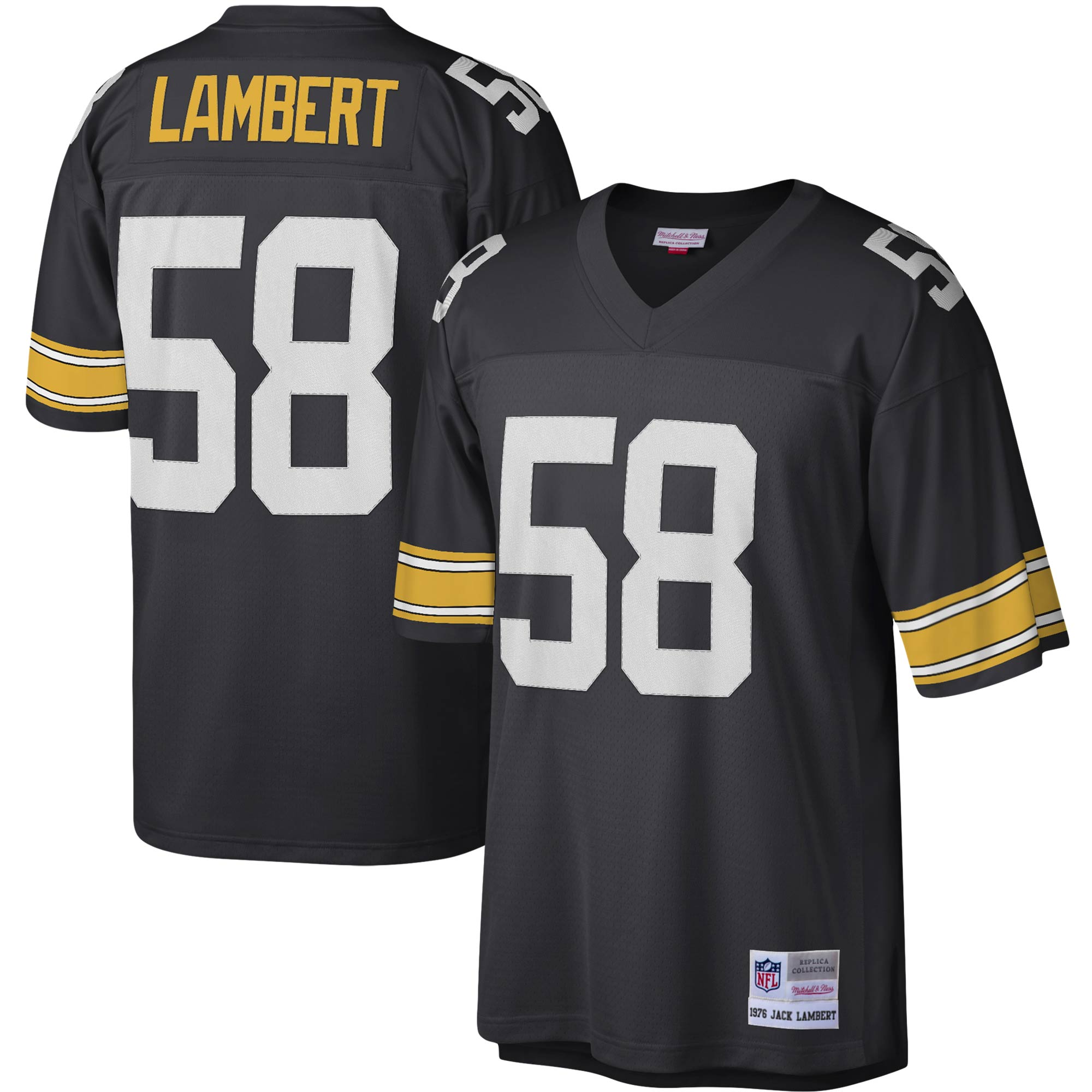 Jack Lambert Pittsburgh Steelers Mitchell & Ness Legacy Replica Jersey - Black