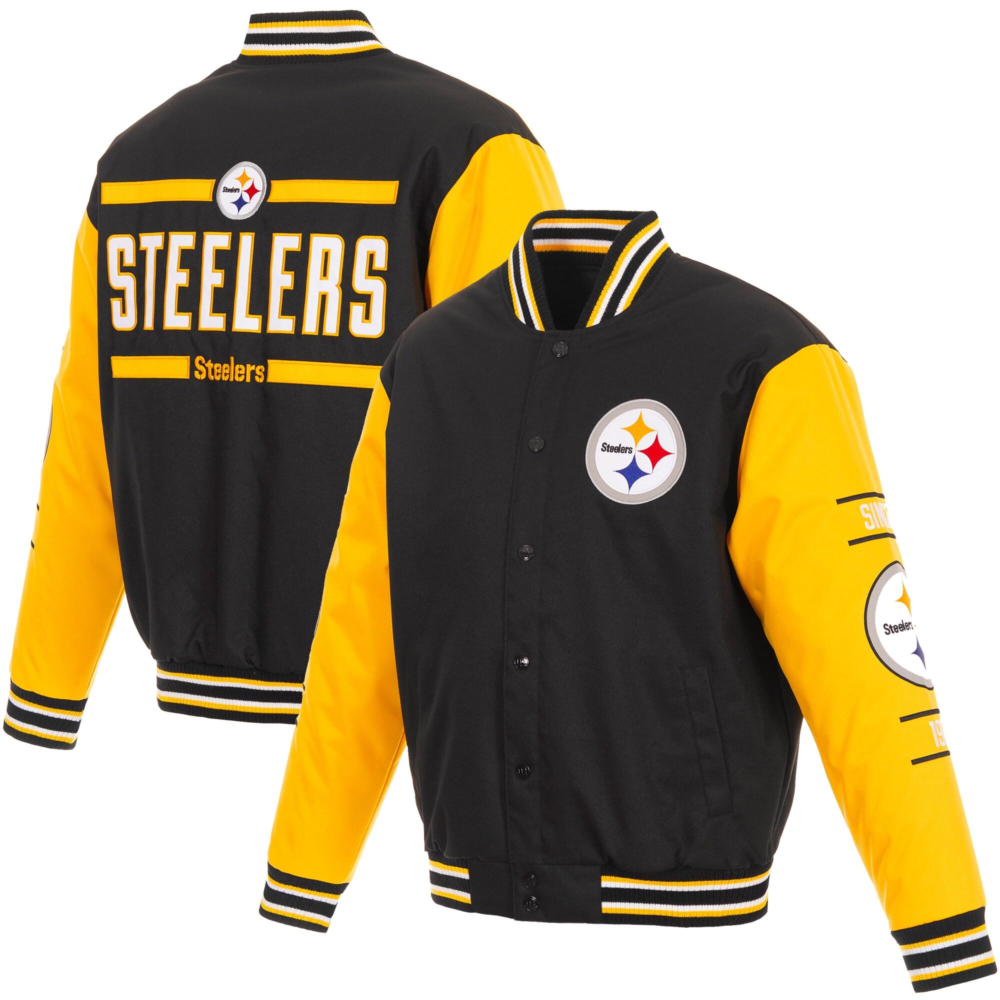 Pittsburgh Steelers JH Design 3-Hit Full-Snap Jacket - Black/Yellow