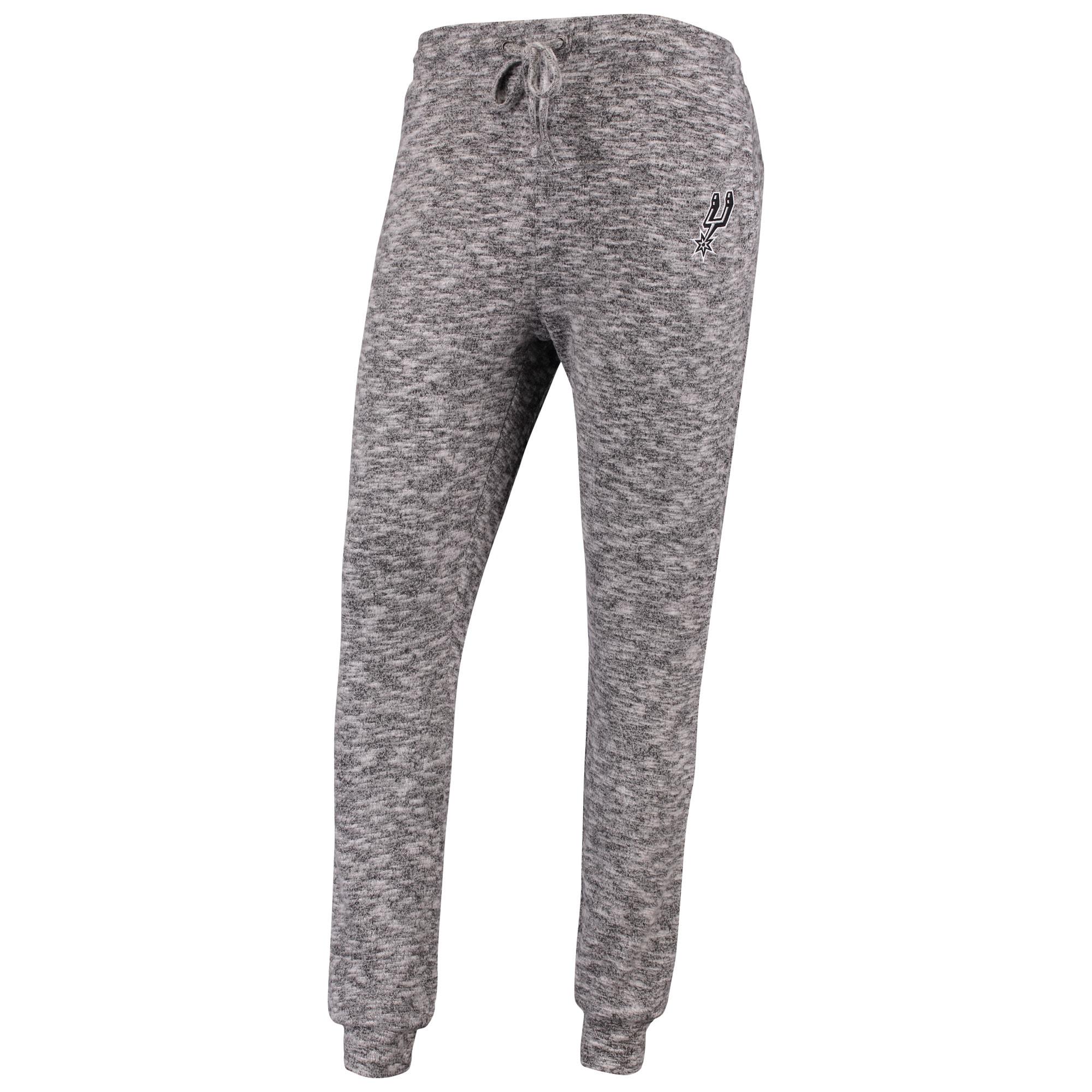San Antonio Spurs Women's Hacci Tri-Blend Jogger Pants - Heathered Gray