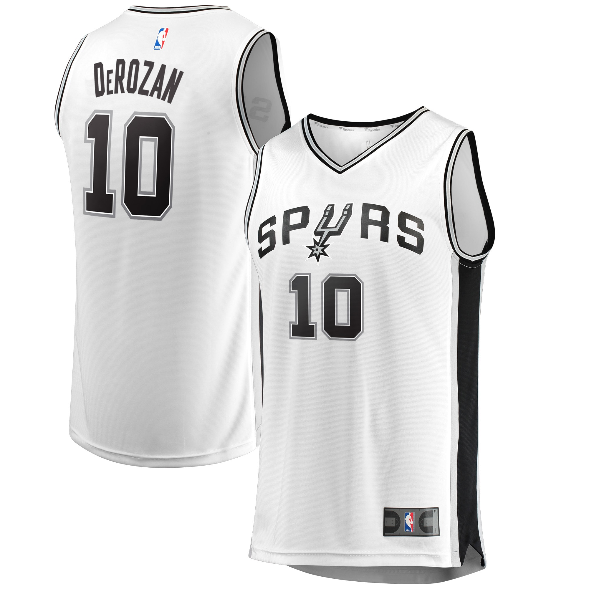 DeMar DeRozan San Antonio Spurs Fanatics Branded Fast Break White Jersey - Association Edition - White