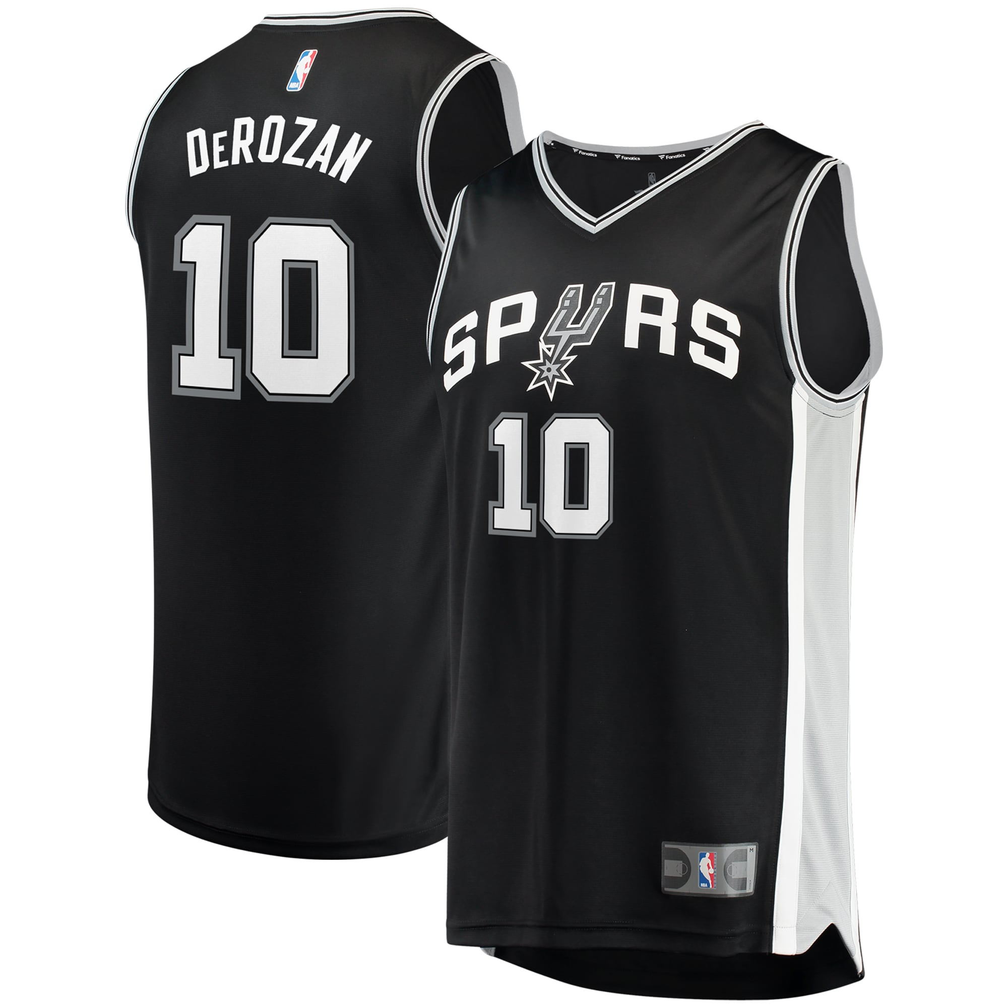 DeMar DeRozan San Antonio Spurs Fanatics Branded Fast Break Replica Jersey - Icon Edition - Black