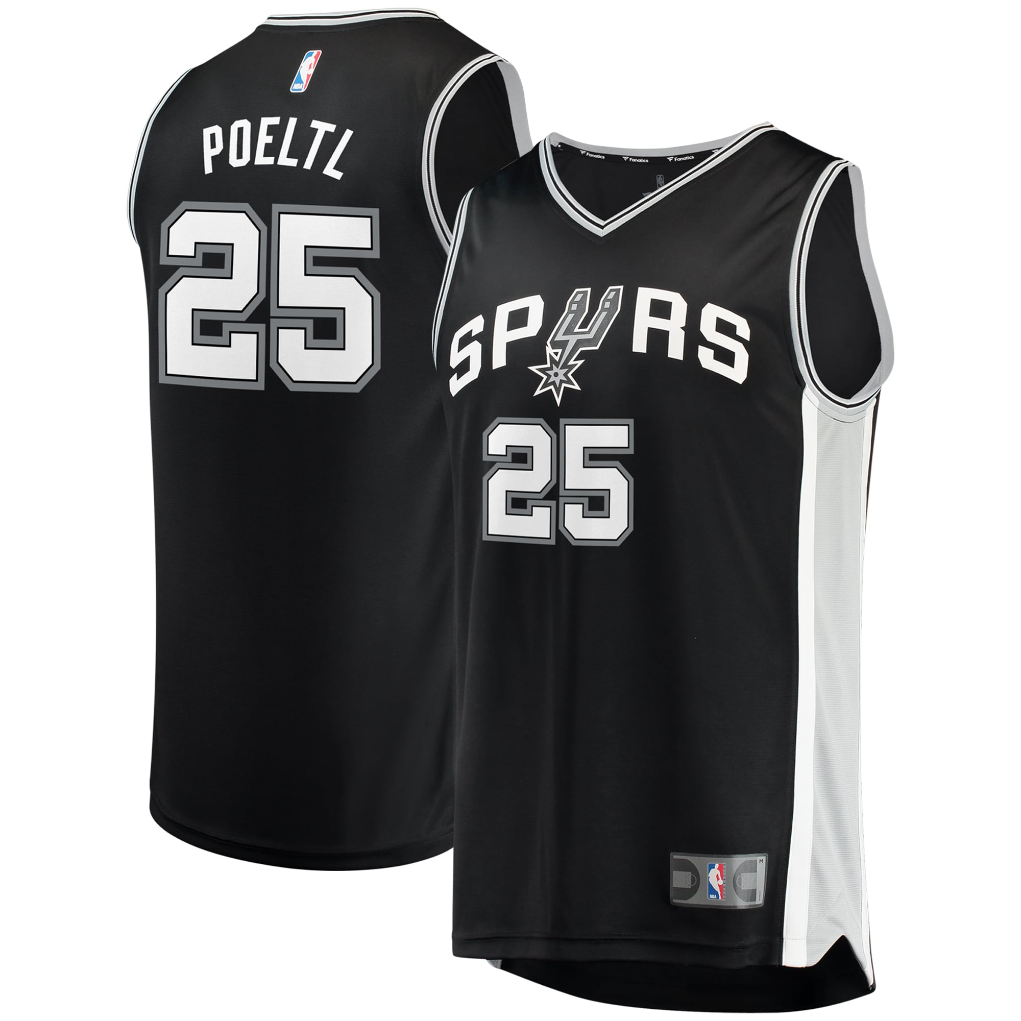 Jakob Poeltl San Antonio Spurs Fanatics Branded Fast Break Replica Jersey - Icon Edition - Black