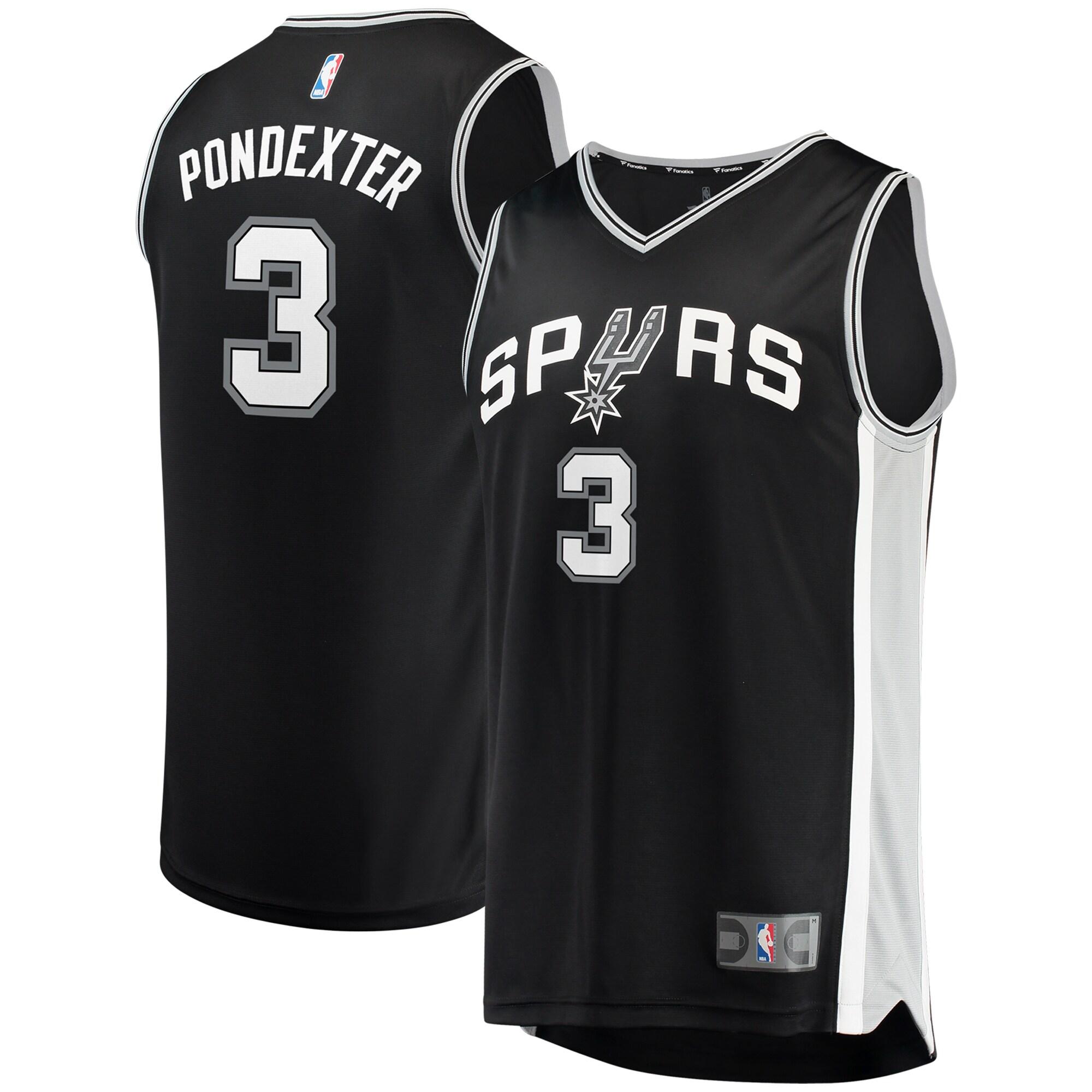 Quincy Pondexter San Antonio Spurs Fanatics Branded Fast Break Replica Jersey - Icon Edition - Black