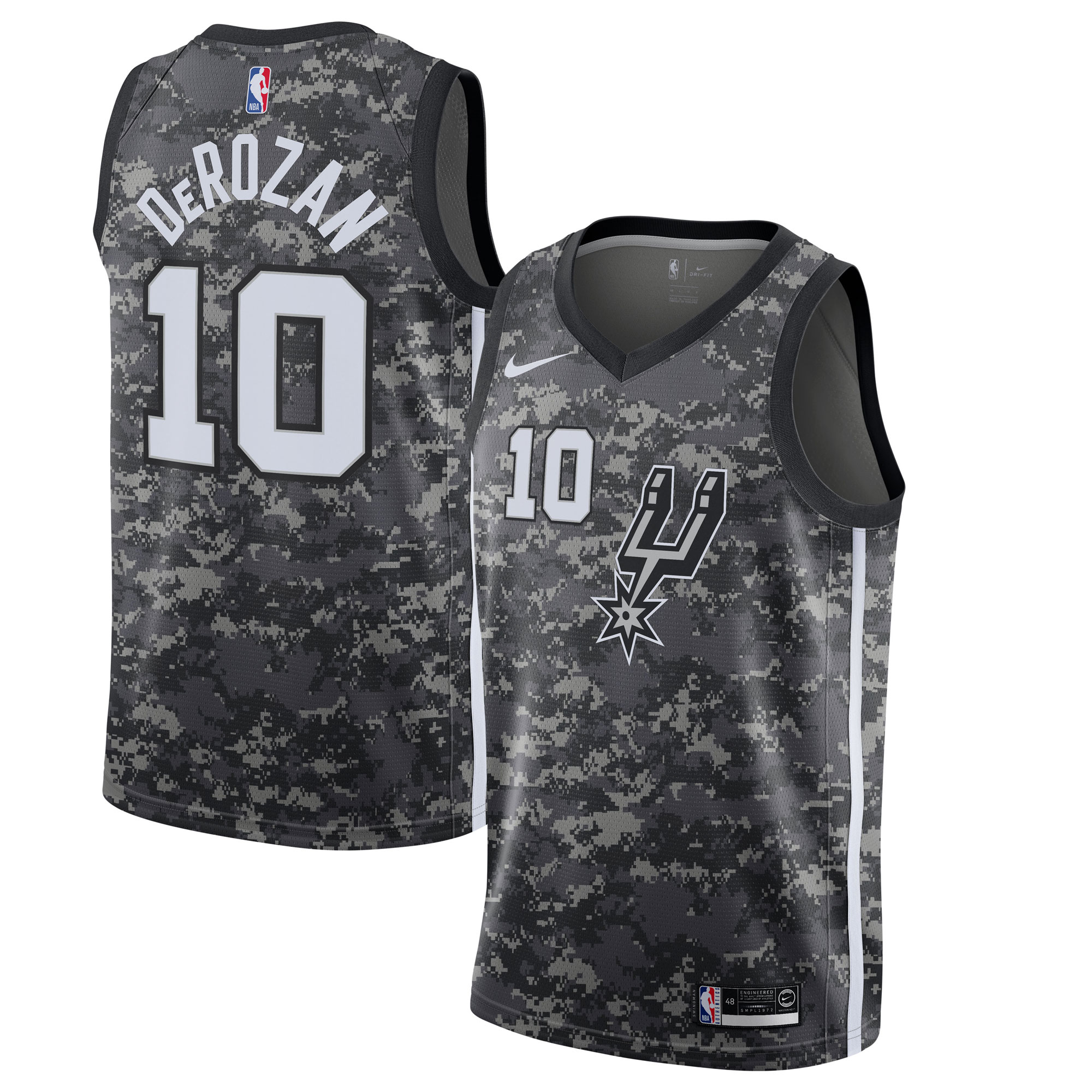 DeMar DeRozan San Antonio Spurs Nike City Edition Swingman Jersey - Black
