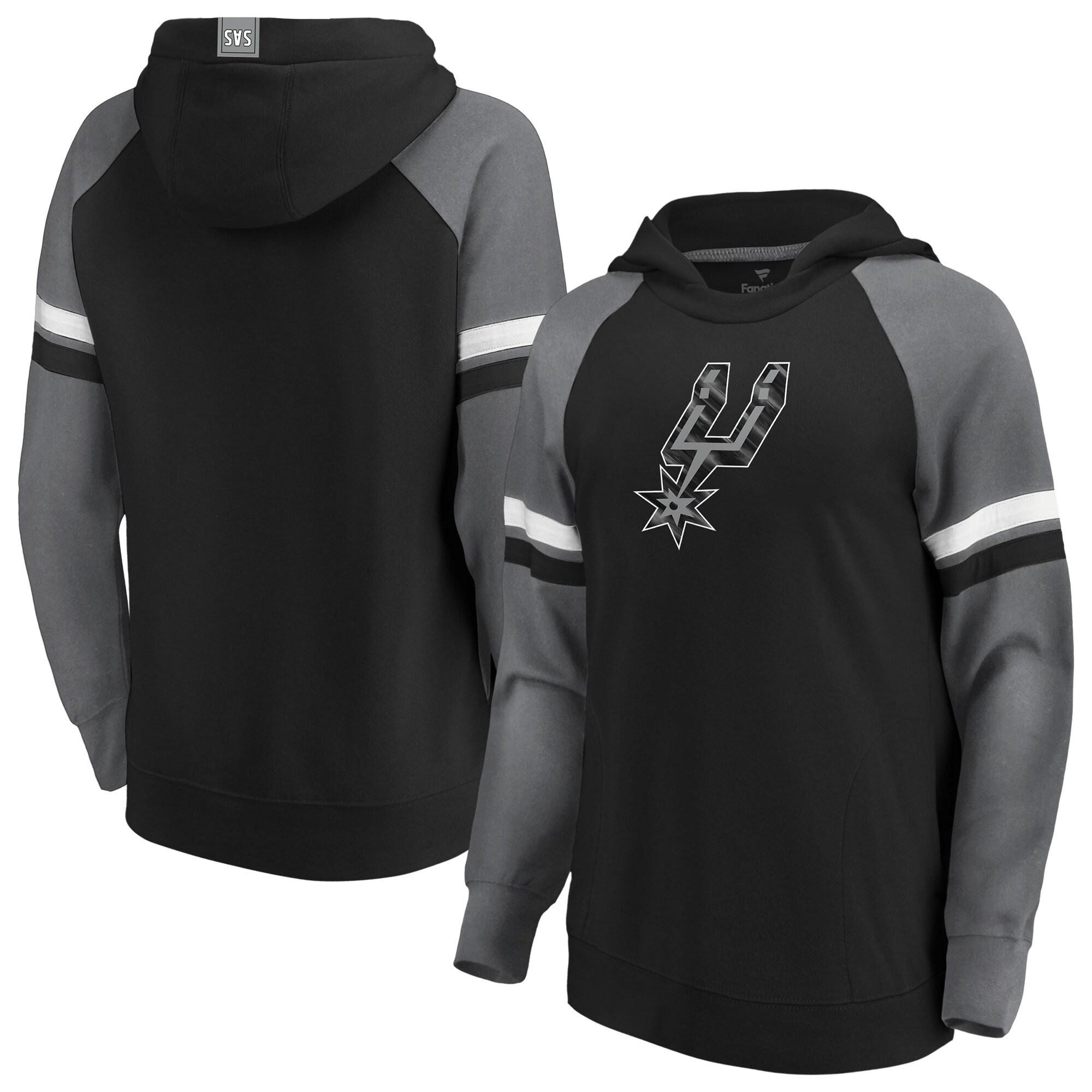 San Antonio Spurs Fanatics Branded Women's Iconic Best in Stock Pullover Hoodie - Black/Gray