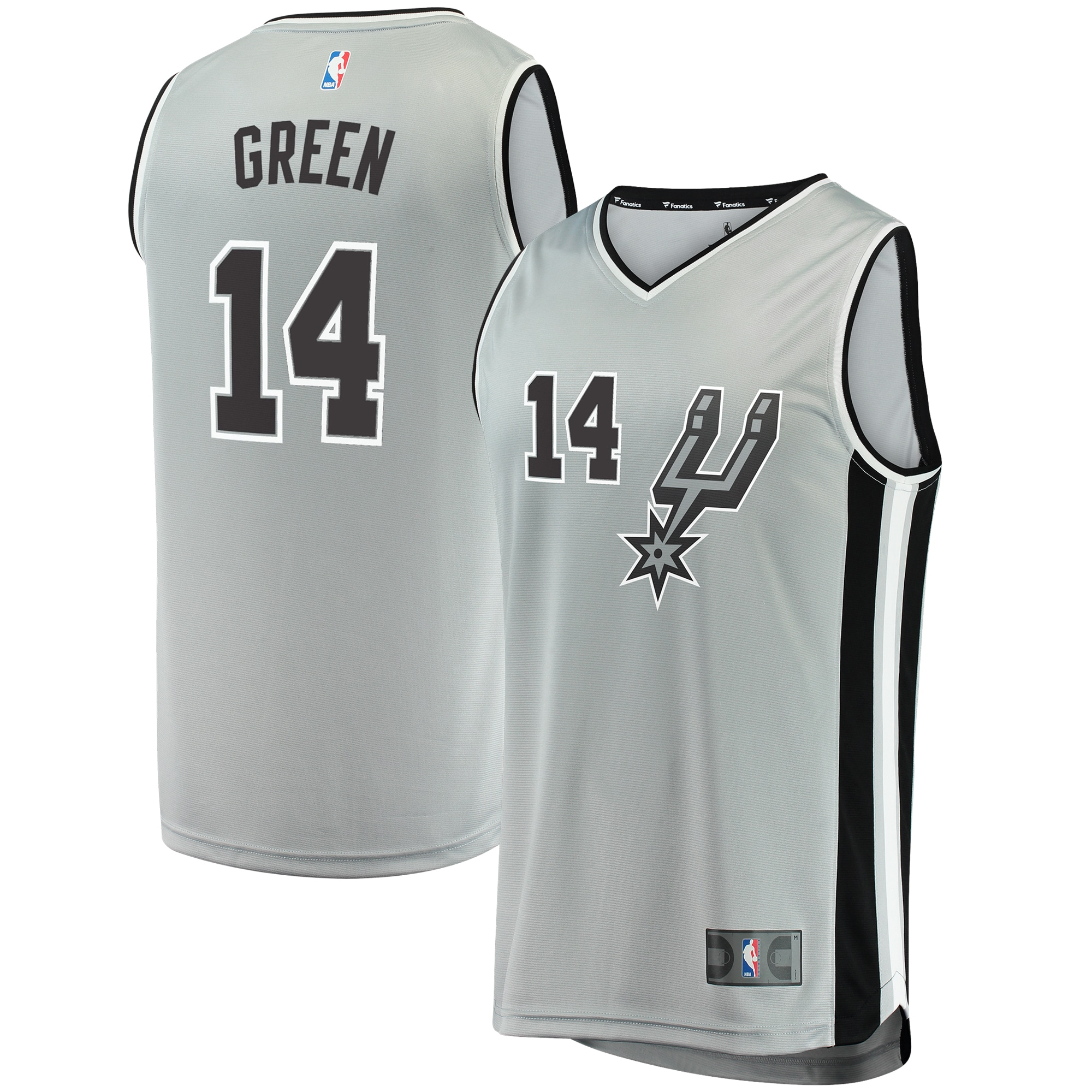 Danny Green San Antonio Spurs Fanatics Branded Youth Fast Break Replica Jersey Silver - Statement Edition