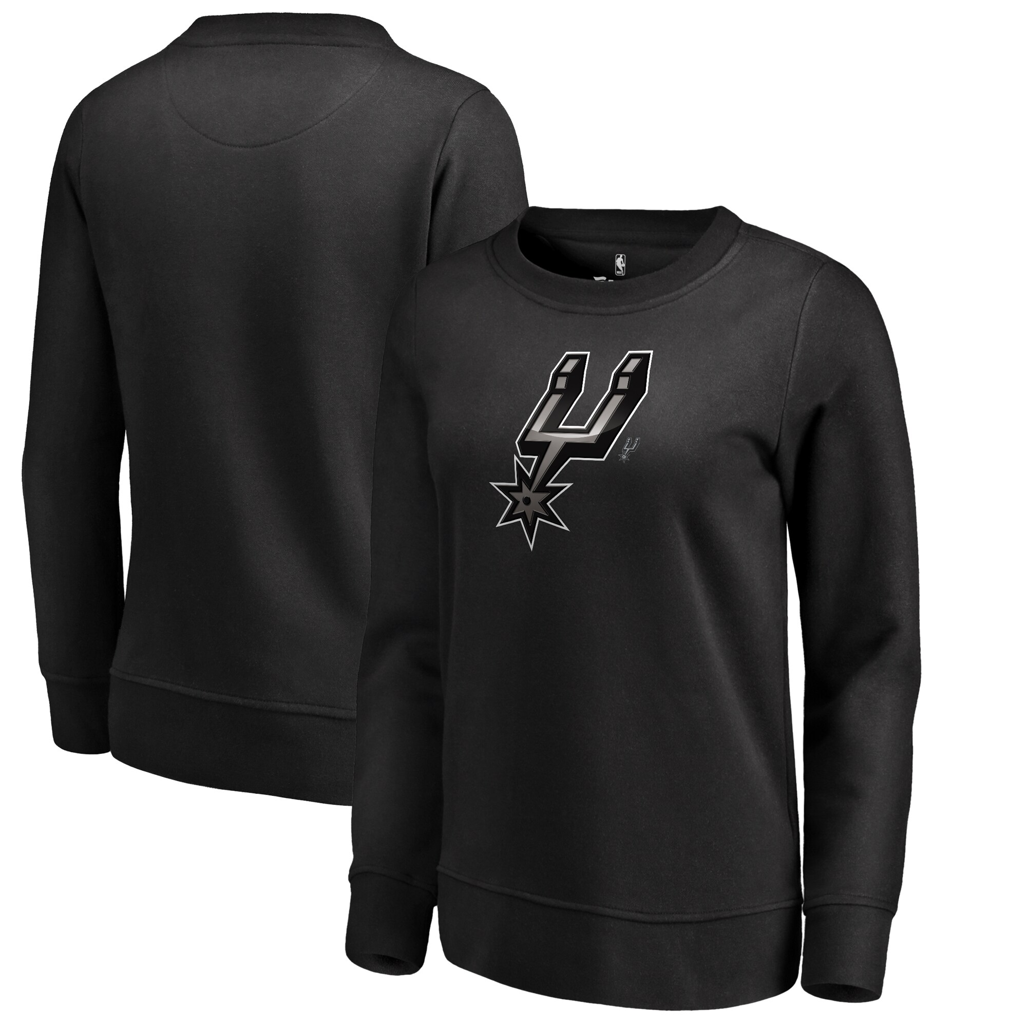 San Antonio Spurs Fanatics Branded Women's Midnight Mascot Pullover Sweatshirt - Black