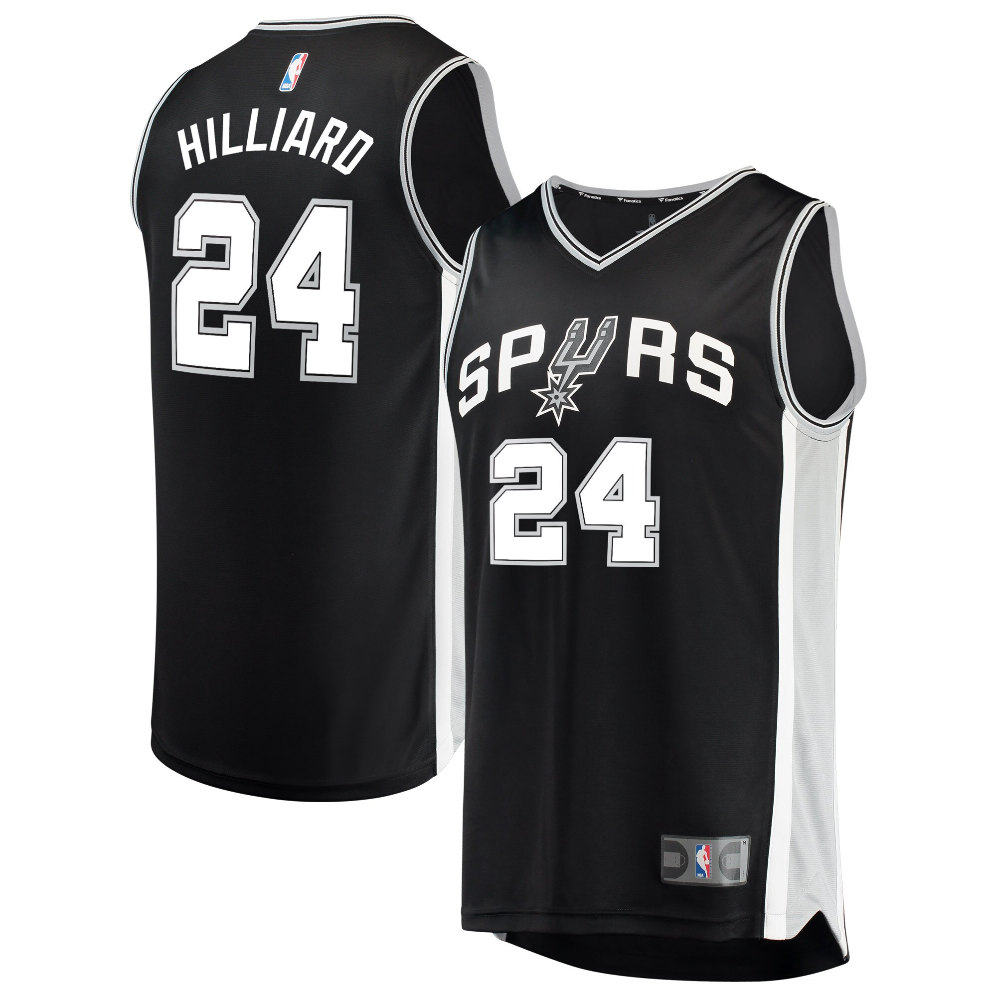 Darrun Hilliard San Antonio Spurs Fanatics Branded Fast Break Road Replica Player Jersey Black - Icon Edition