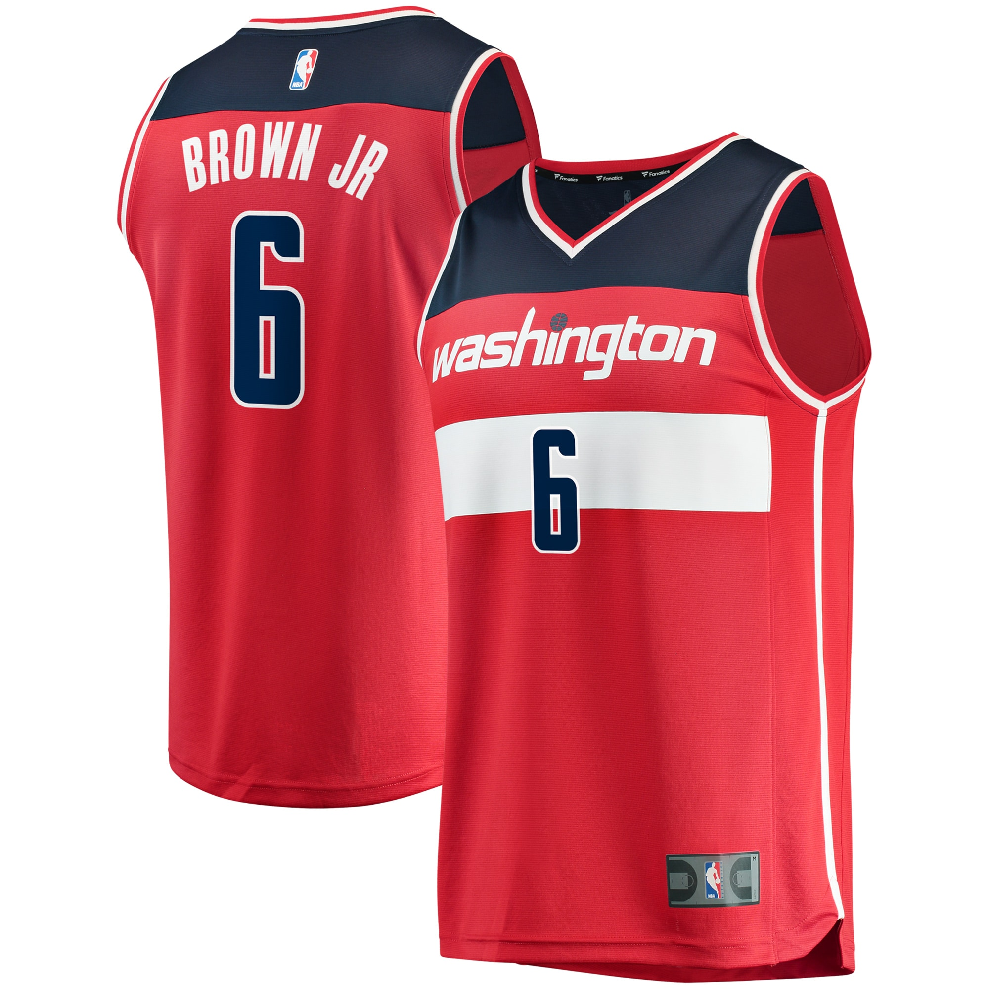 Troy Brown Jr. Washington Wizards Fanatics Branded Fast Break Replica Jersey - Icon Edition - Red