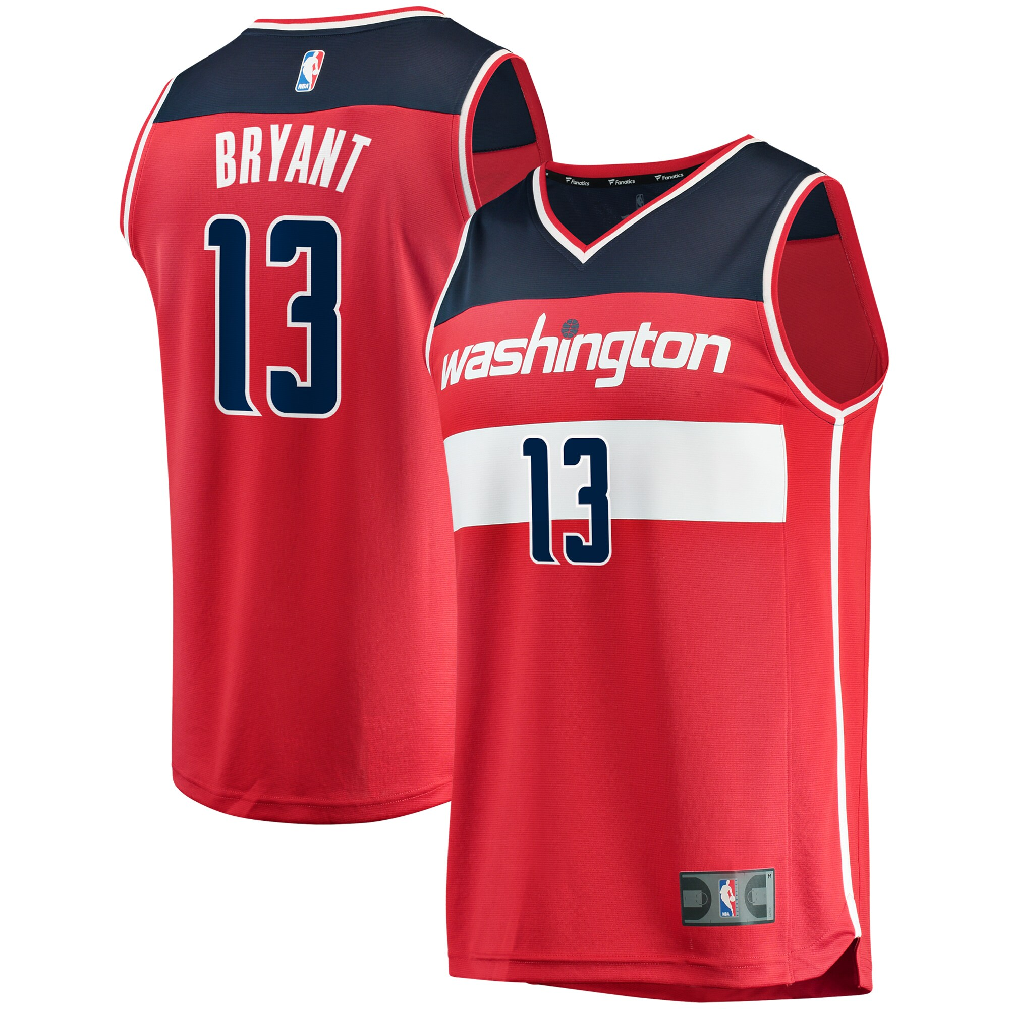 Thomas Bryant Washington Wizards Fanatics Branded Fast Break Replica Jersey - Icon Edition - Red