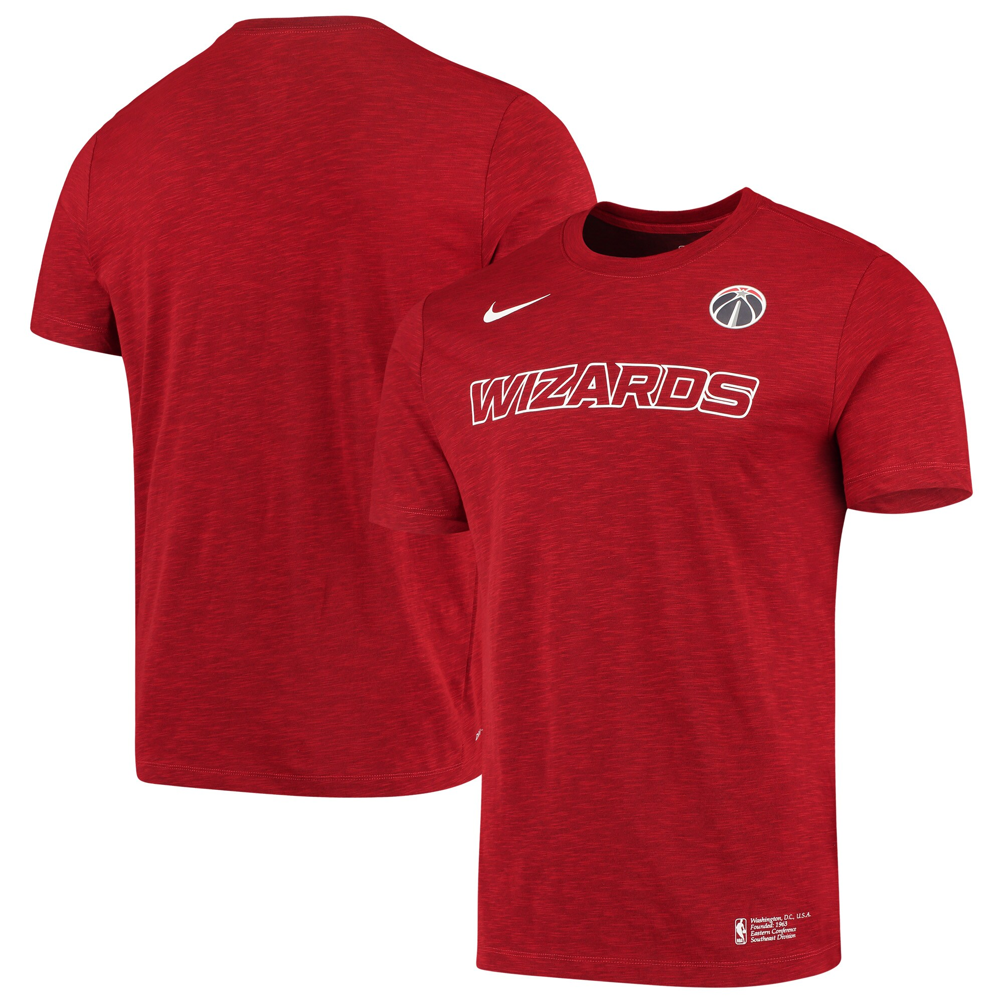 Washington Wizards Nike Essential Facility Performance T-Shirt - Heathered Red
