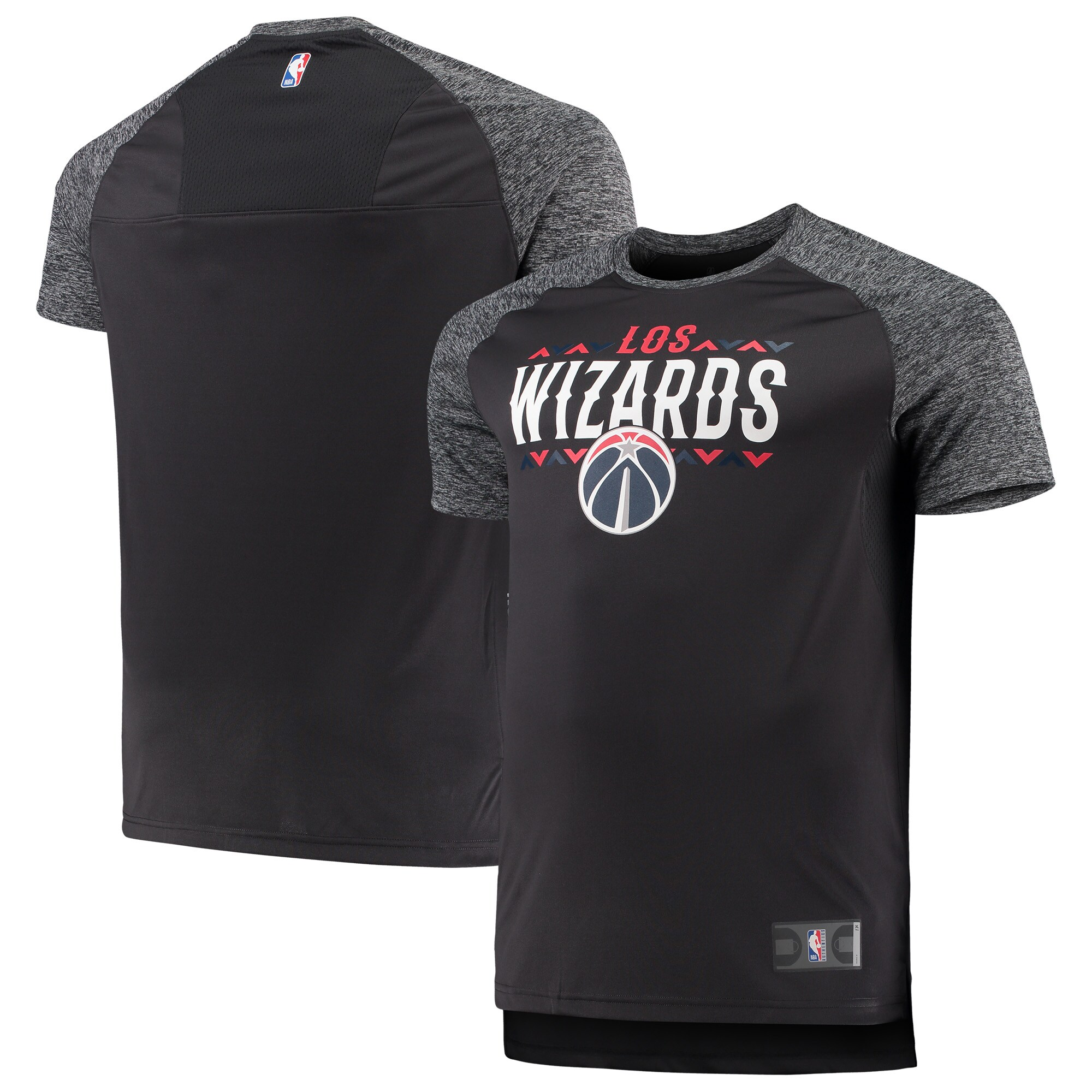 Washington Wizards Fanatics Branded Big & Tall Noches Shooting Raglan T-Shirt - Gray