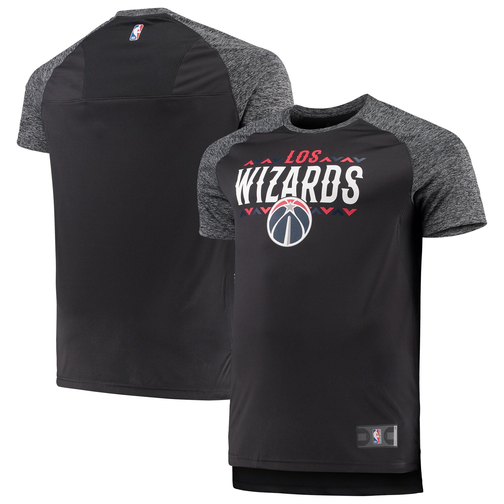 Washington Wizards Fanatics Branded Big & Tall Noches Shooting Raglan T-Shirt - Gray