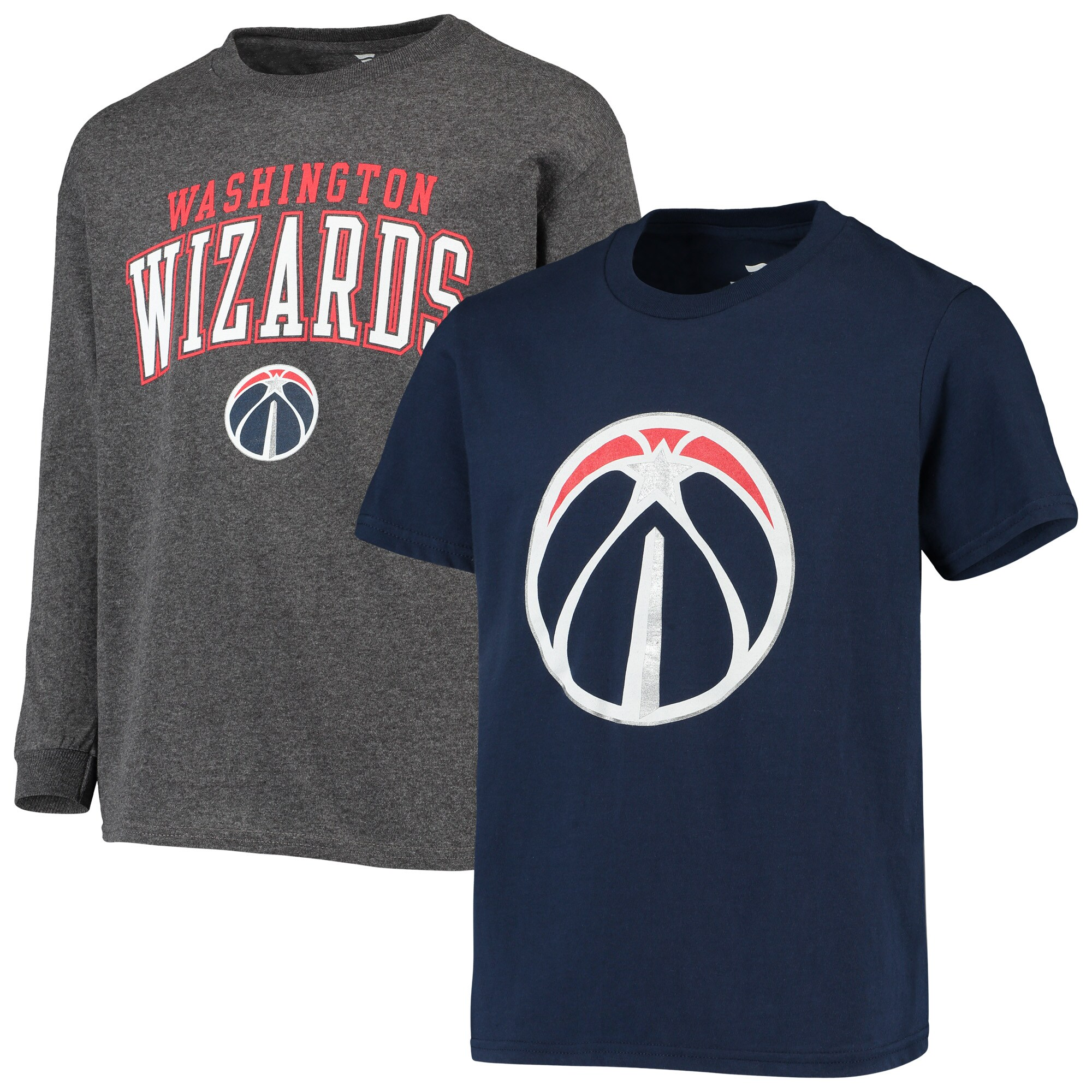 Washington Wizards Fanatics Branded Youth Square T-Shirt Combo Set - Navy/Gray