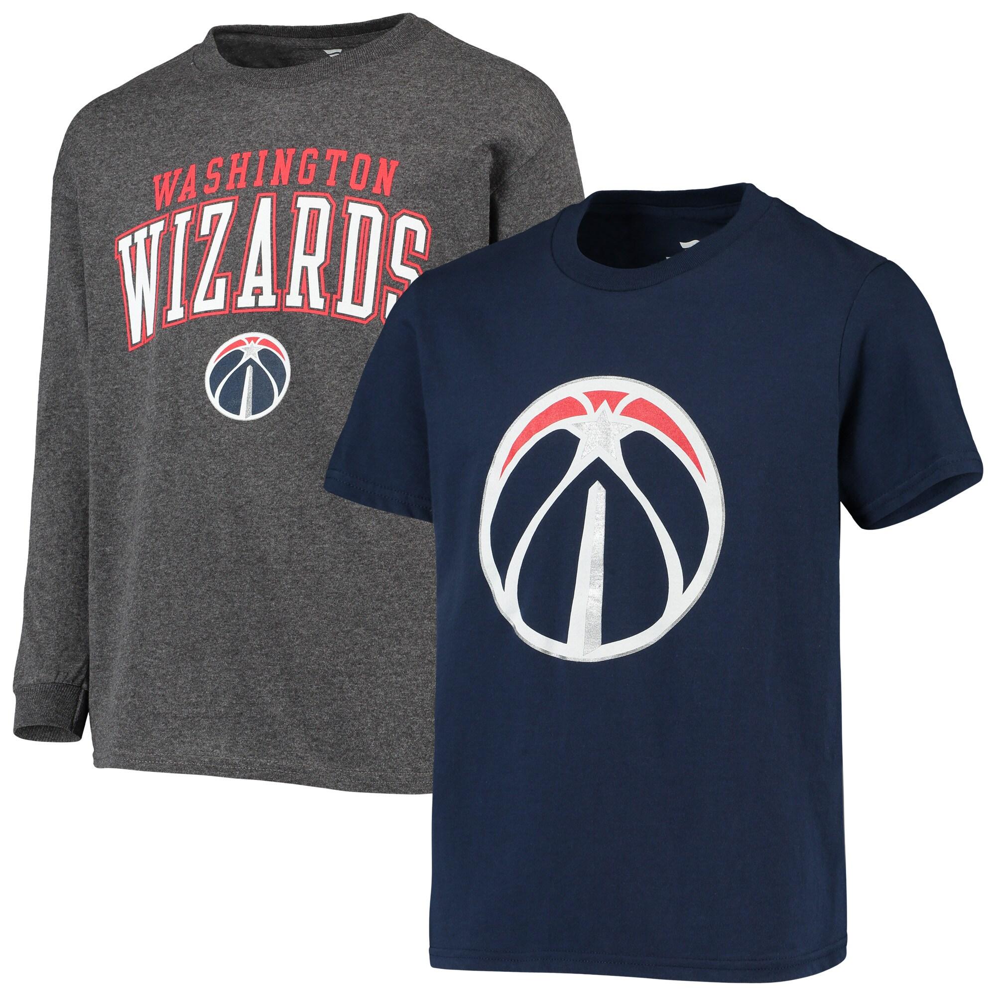 Washington Wizards Fanatics Branded Youth Square T-Shirt Combo Set - Navy/Gray