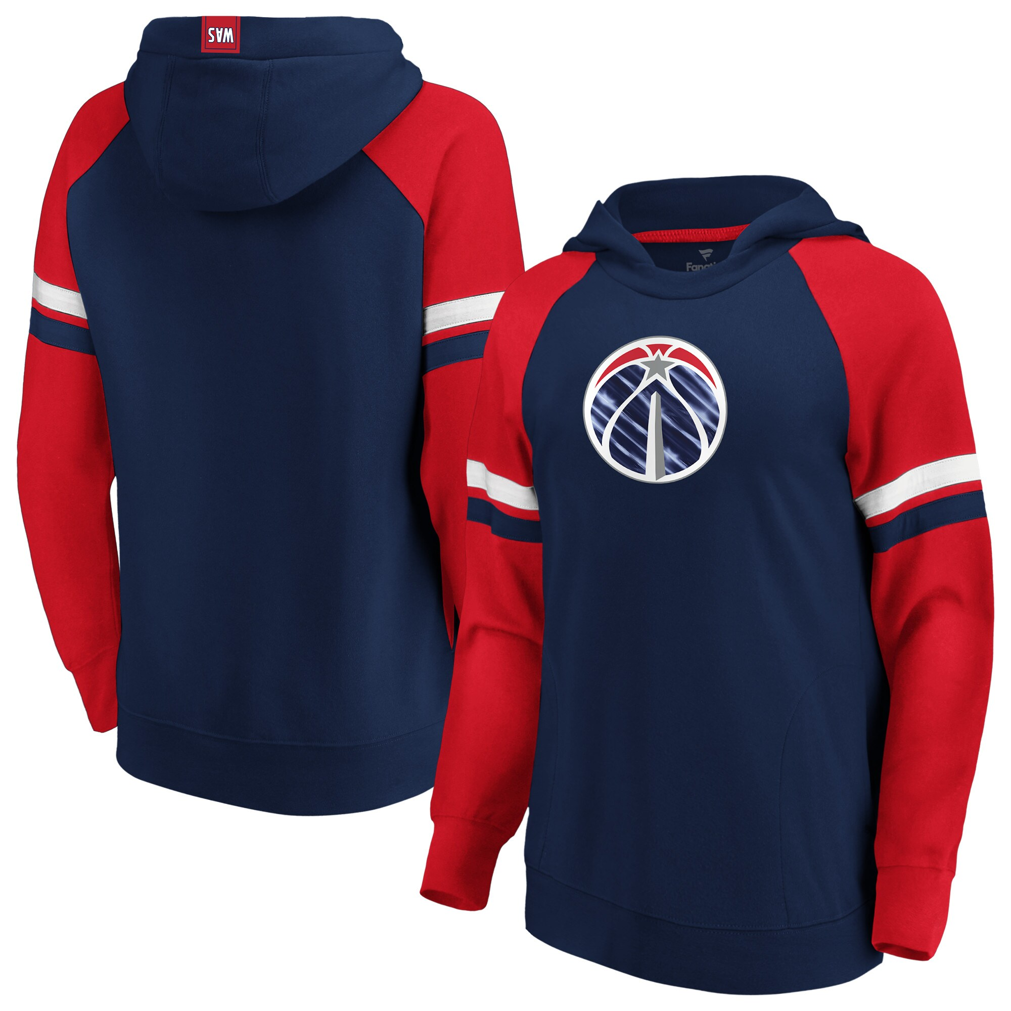 Washington Wizards Fanatics Branded Women's Iconic Best in Stock Pullover Hoodie - Navy/Red