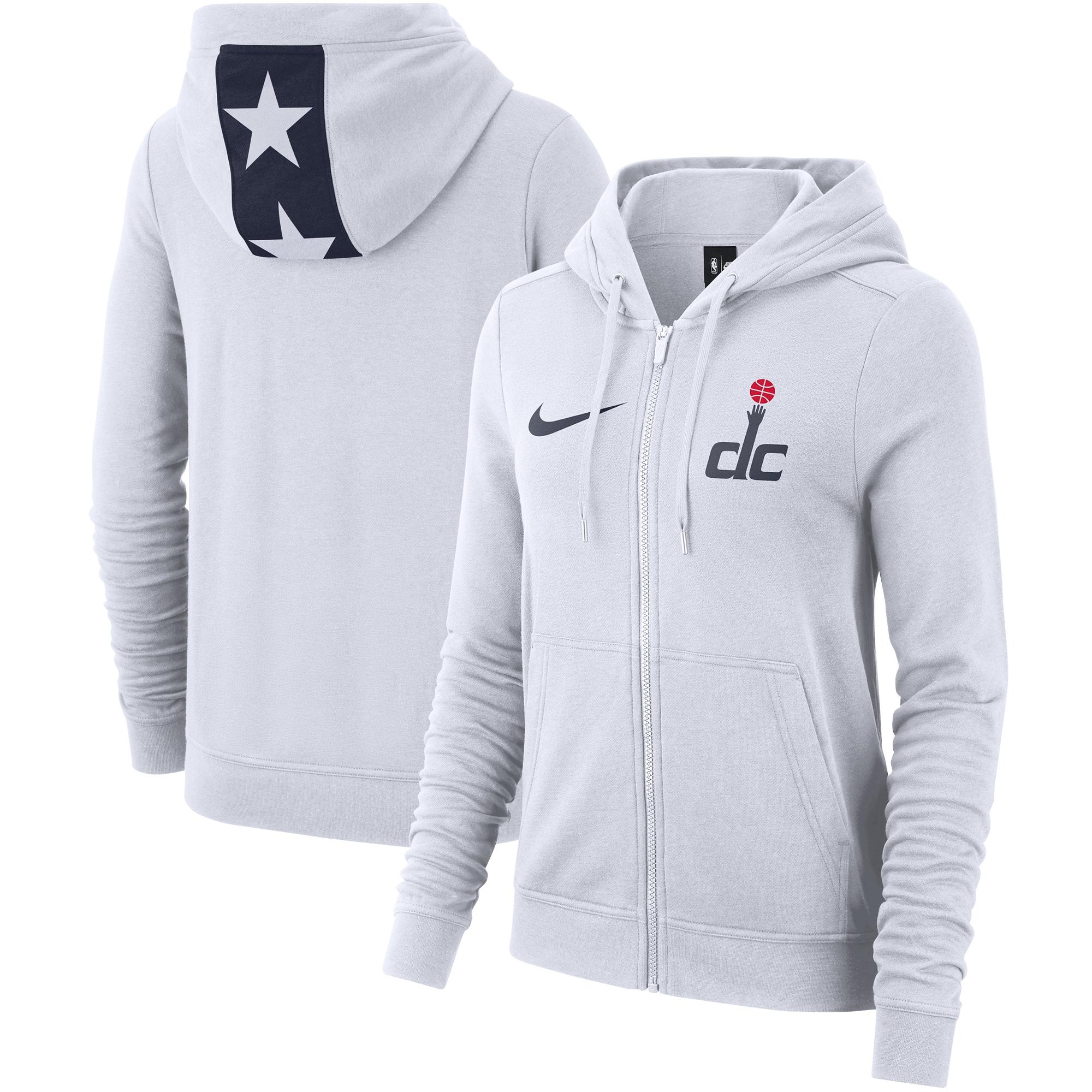 Washington Wizards Nike Women's 2019/20 City Edition Full-Zip Hoodie - White