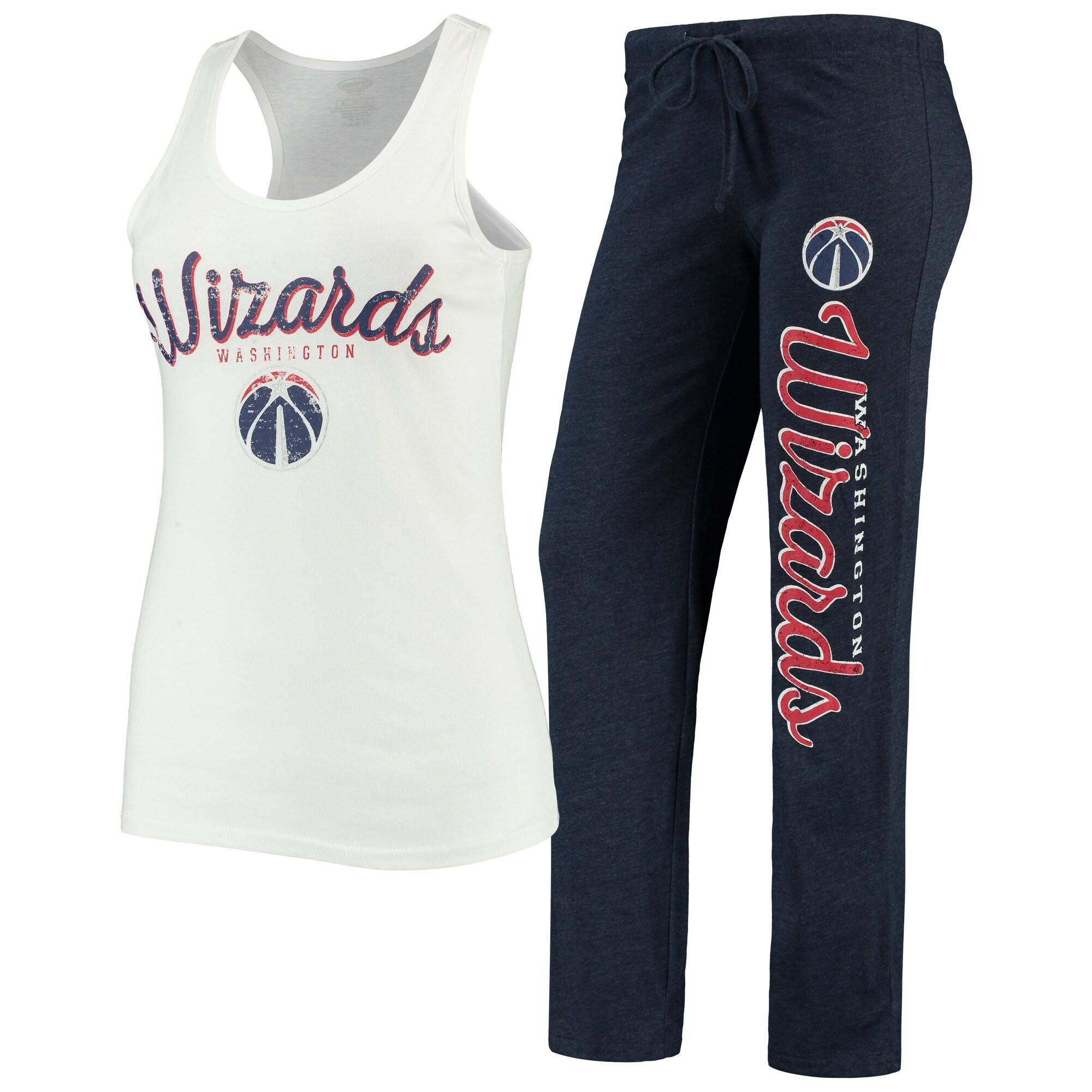 Washington Wizards Concepts Sport Women's Topic Tank Top & Pants Sleep Set - White/Navy