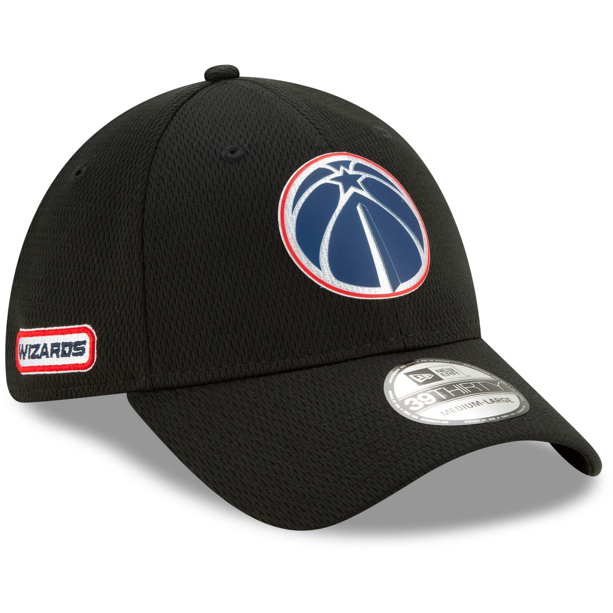 Washington Wizards New Era Official Back Half 39THIRTY Flex Hat - Black