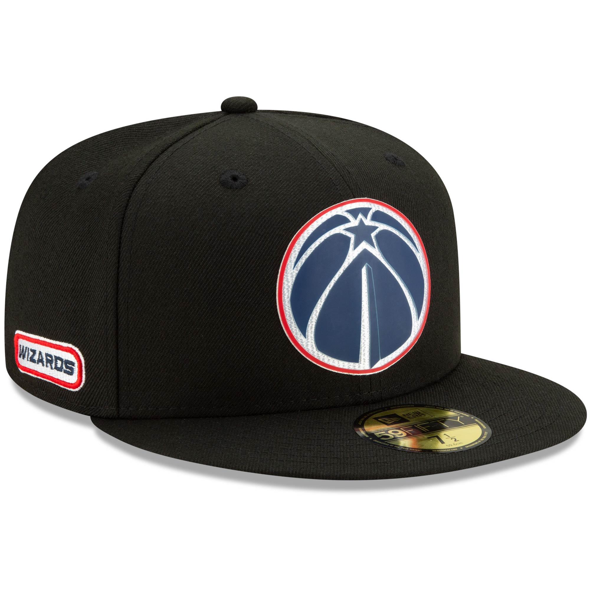 Washington Wizards New Era Official Back Half 59FIFTY Fitted Hat - Black