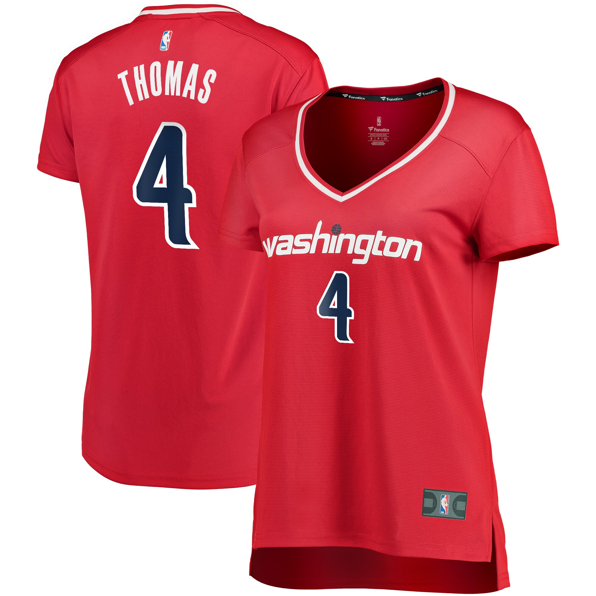Isaiah Thomas Washington Wizards Fanatics Branded Women's Fast Break Replica Player Jersey - Icon Edition - Red