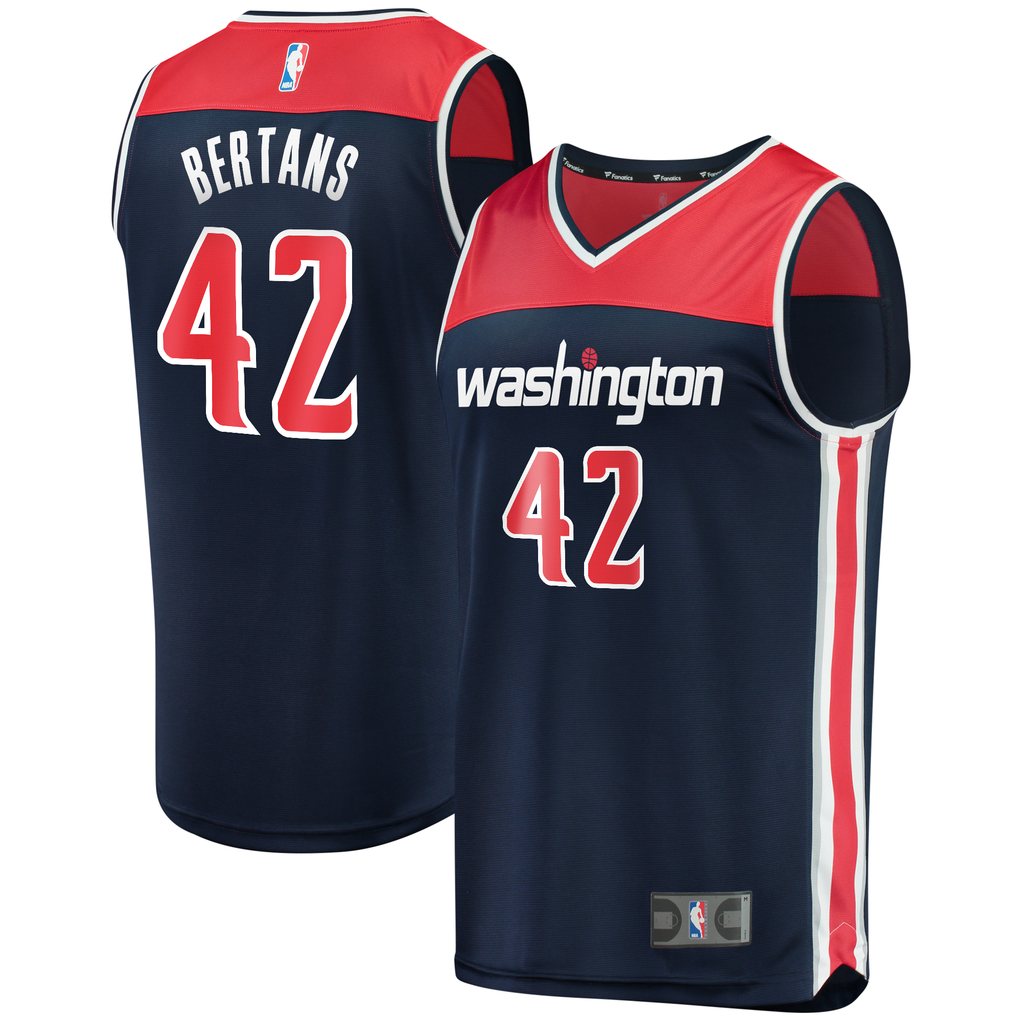 Davis Bertans Washington Wizards Fanatics Branded Fast Break Replica Player Jersey Navy - Statement Edition