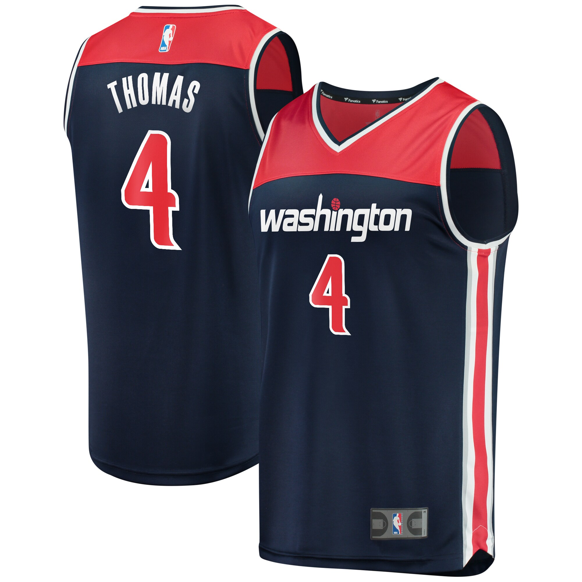 Isaiah Thomas Washington Wizards Fanatics Branded Fast Break Replica Player Jersey Navy - Statement Edition