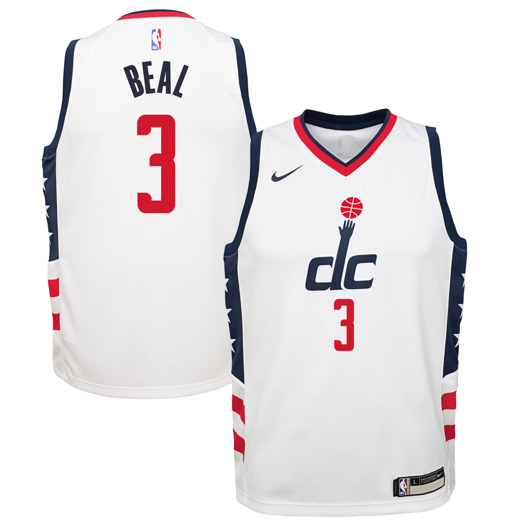 Bradley Beal Washington Wizards Nike Youth Swingman Jersey White - City Edition