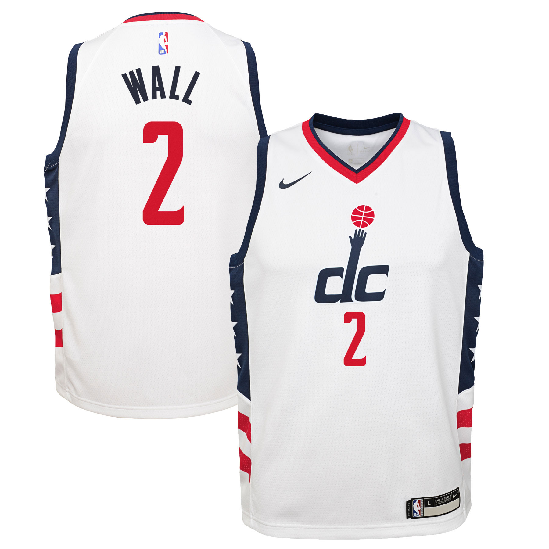 John Wall Washington Wizards Nike Youth Swingman Jersey White - City Edition
