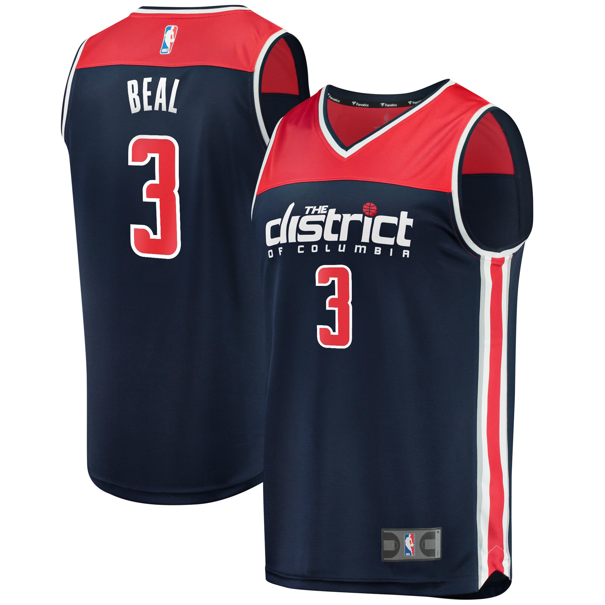 Bradley Beal Washington Wizards Fanatics Branded Fast Break Replica Jersey - Statement Edition - Navy