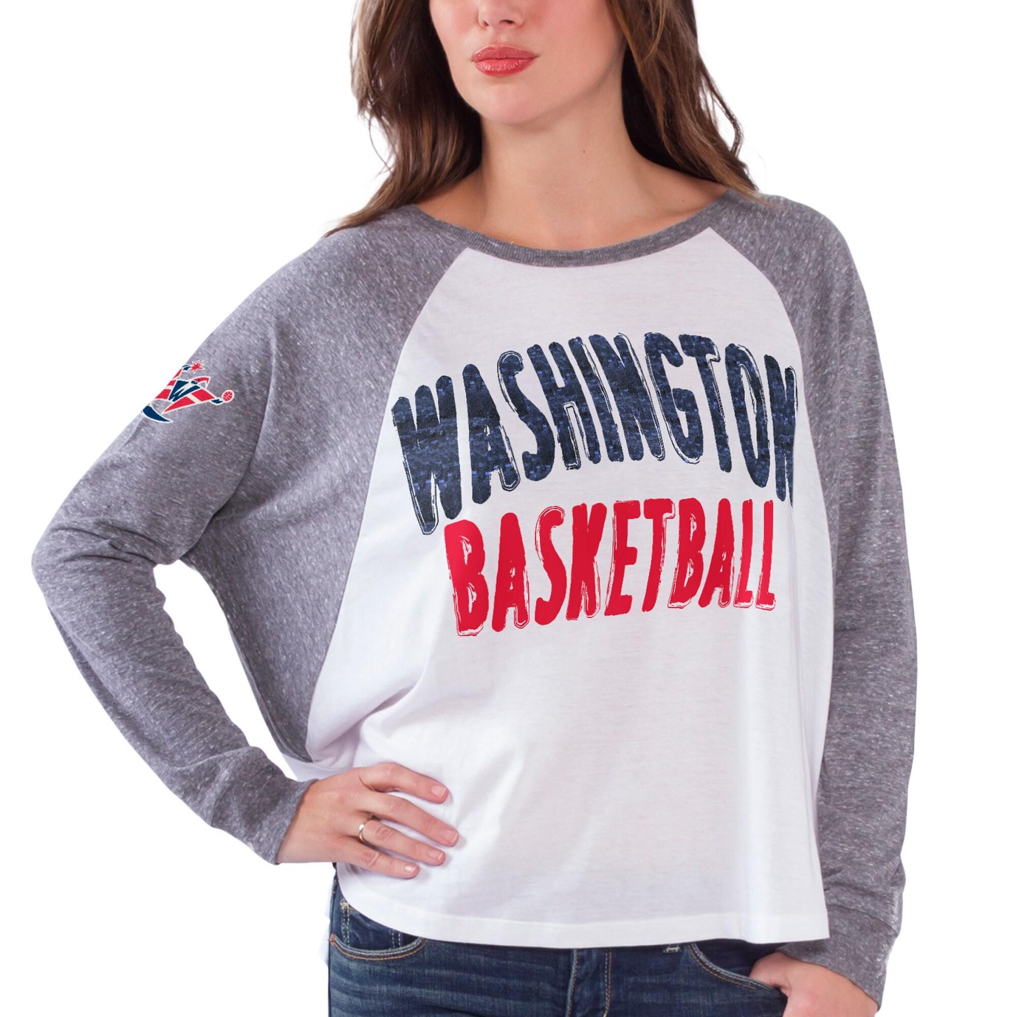 Washington Wizards Women's Triple A Long Sleeve T-Shirt - White/Gray