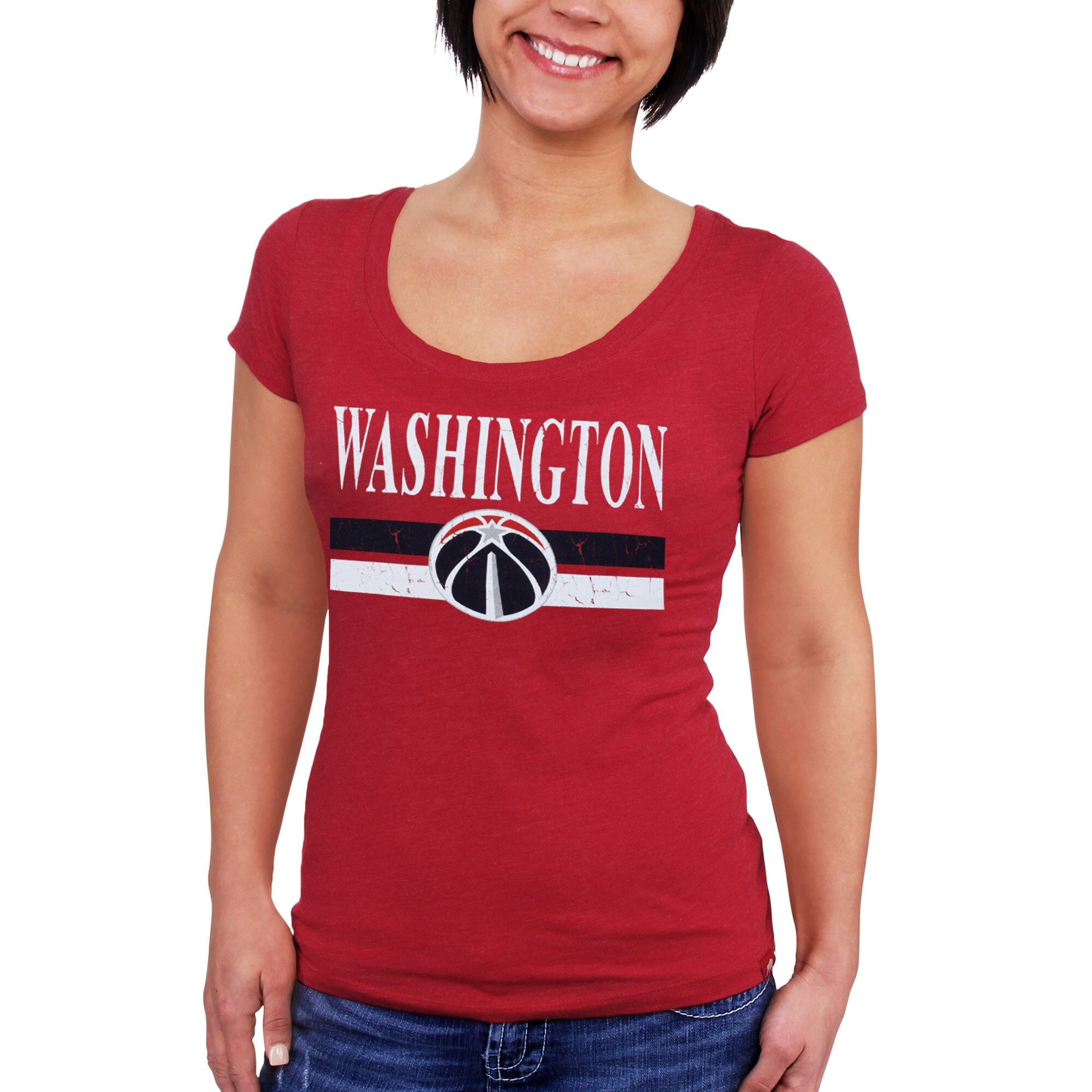 Washington Wizards Sportiqe Women's Cosmo Tri-Blend Scoop Neck T-Shirt - Red