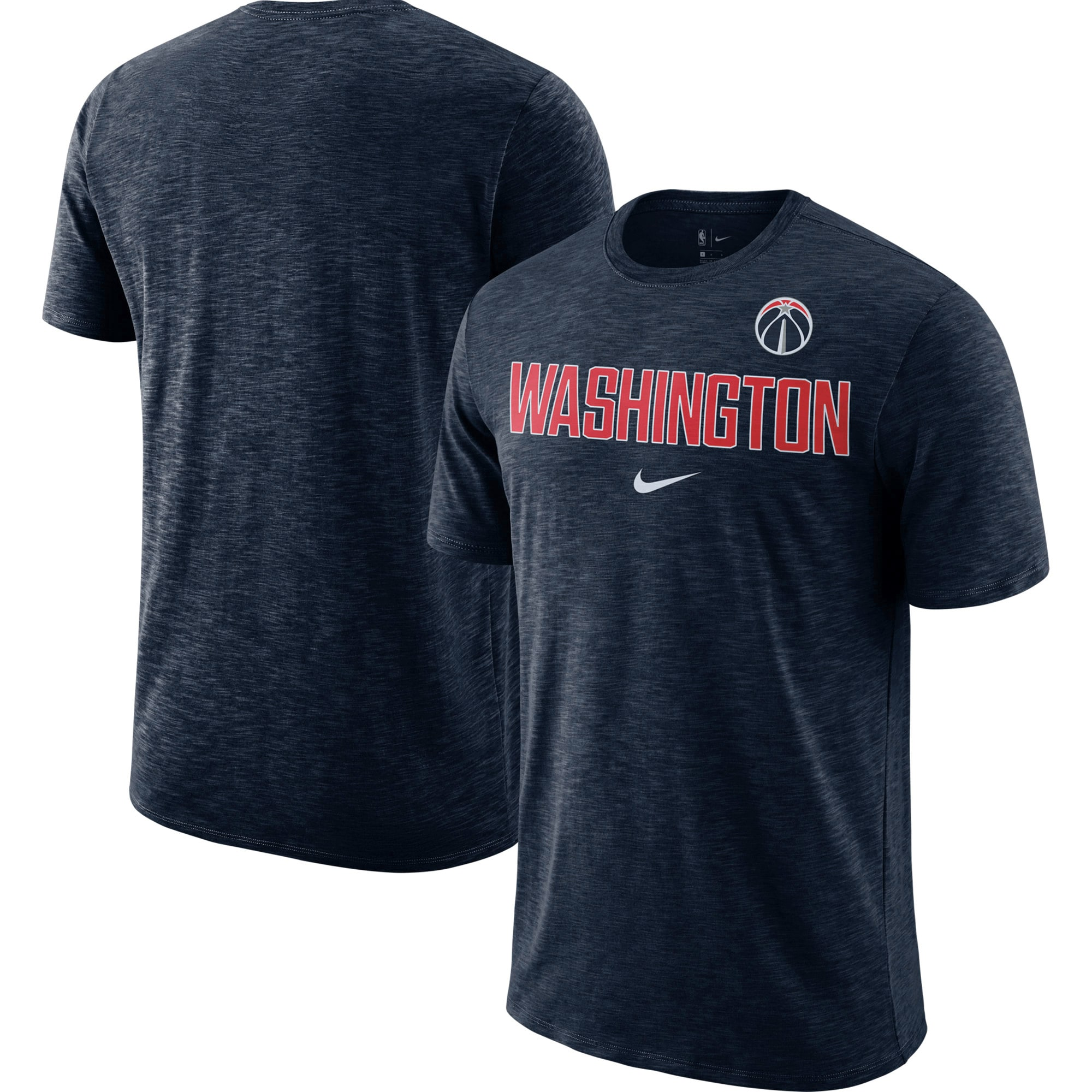 Washington Wizards Nike Essential Facility Slub Performance T-Shirt - Heathered Navy
