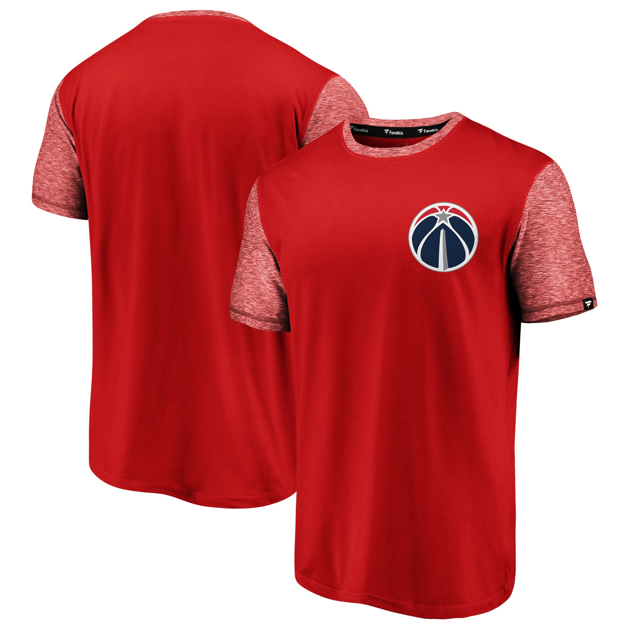 Washington Wizards Fanatics Branded Made to Move Static Performance T-Shirt - Red/Heathered Red