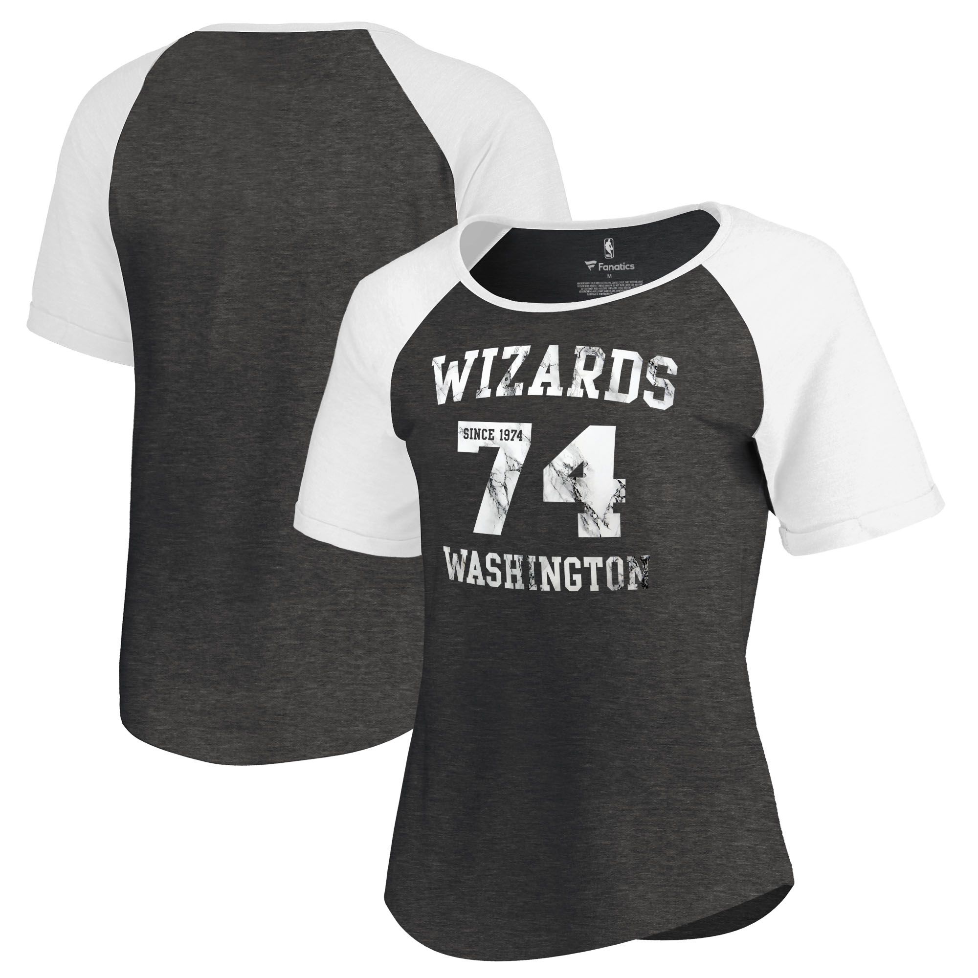 Washington Wizards Fanatics Branded Women's Hang Time Short Sleeve Raglan T-Shirt - Black