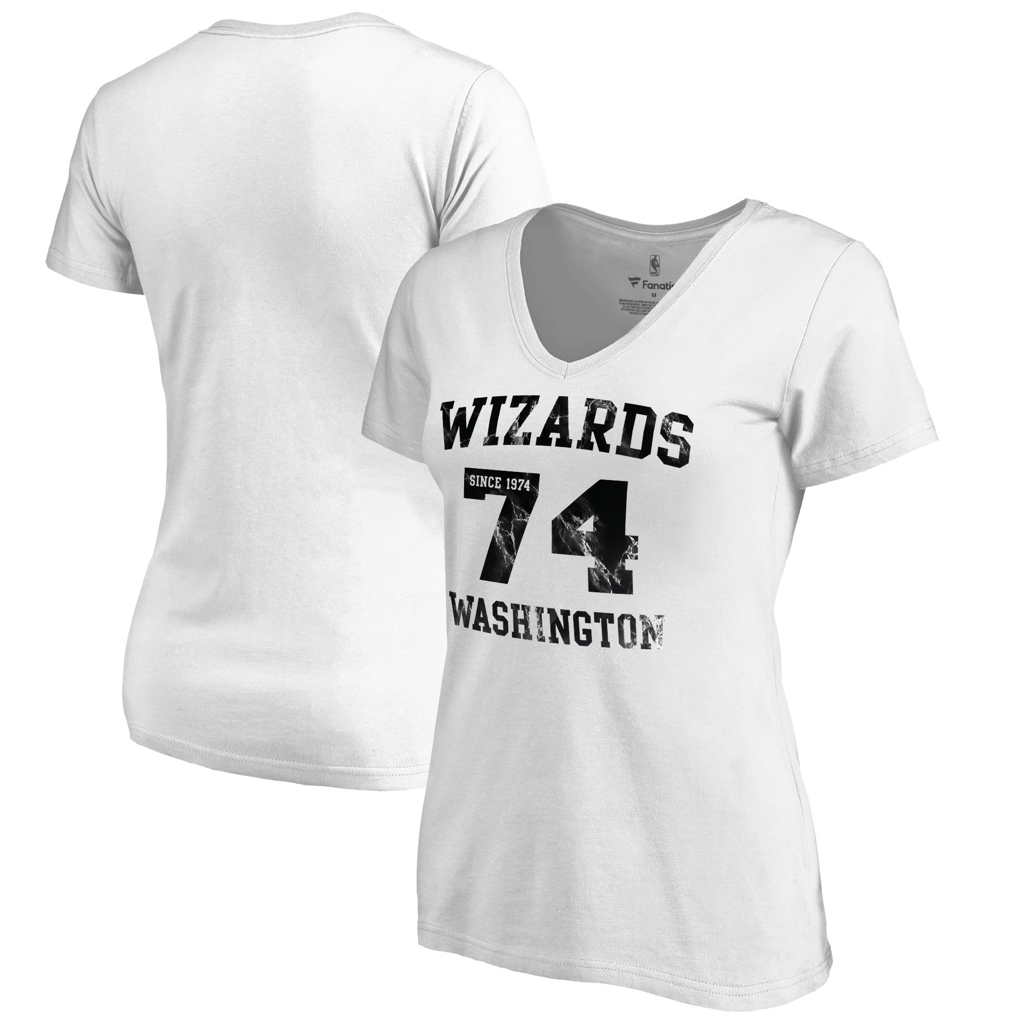 Washington Wizards Fanatics Branded Women's Hang Time Plus Size V-Neck T-Shirt - White