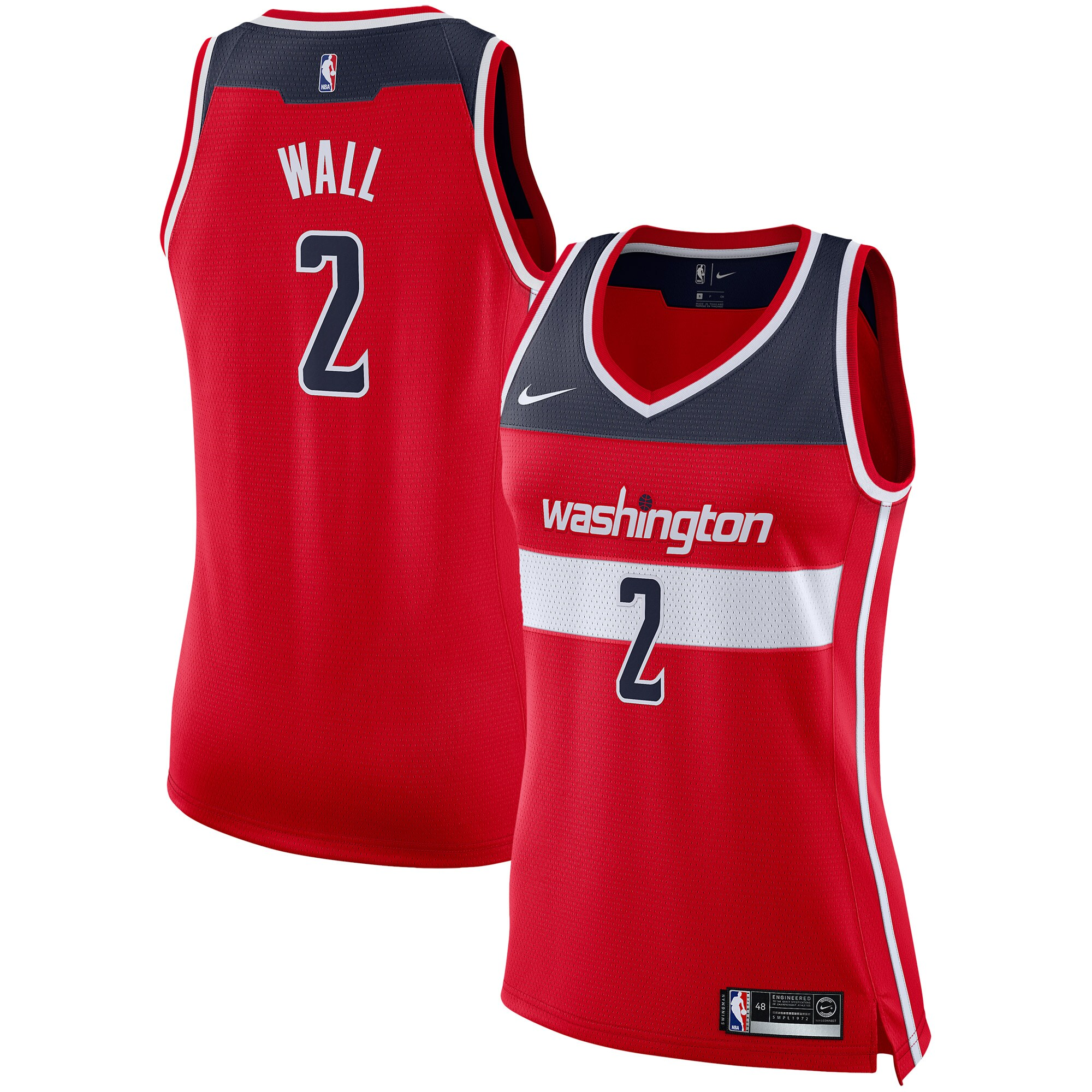 John Wall Washington Wizards Nike Women's Swingman Jersey - Red - Icon Edition