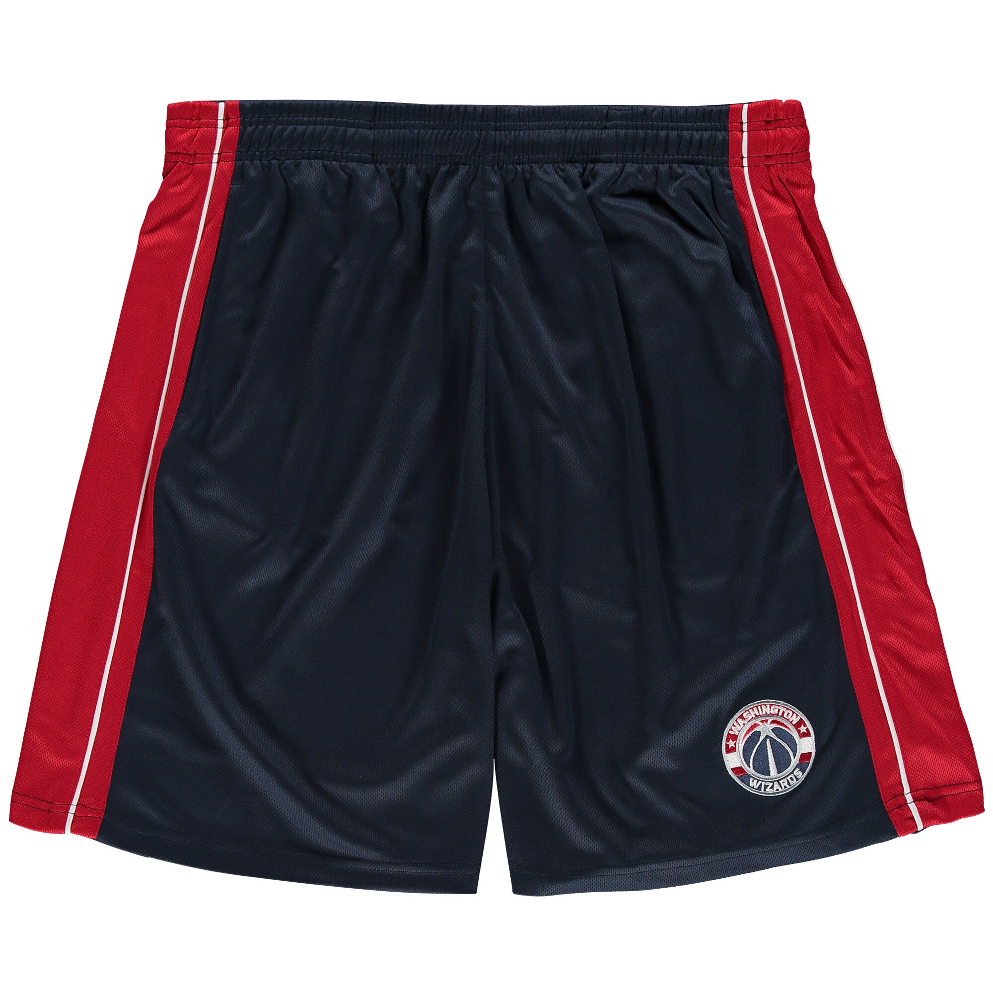 Washington Wizards Majestic Big & Tall Birdseye Shorts - Navy/Red