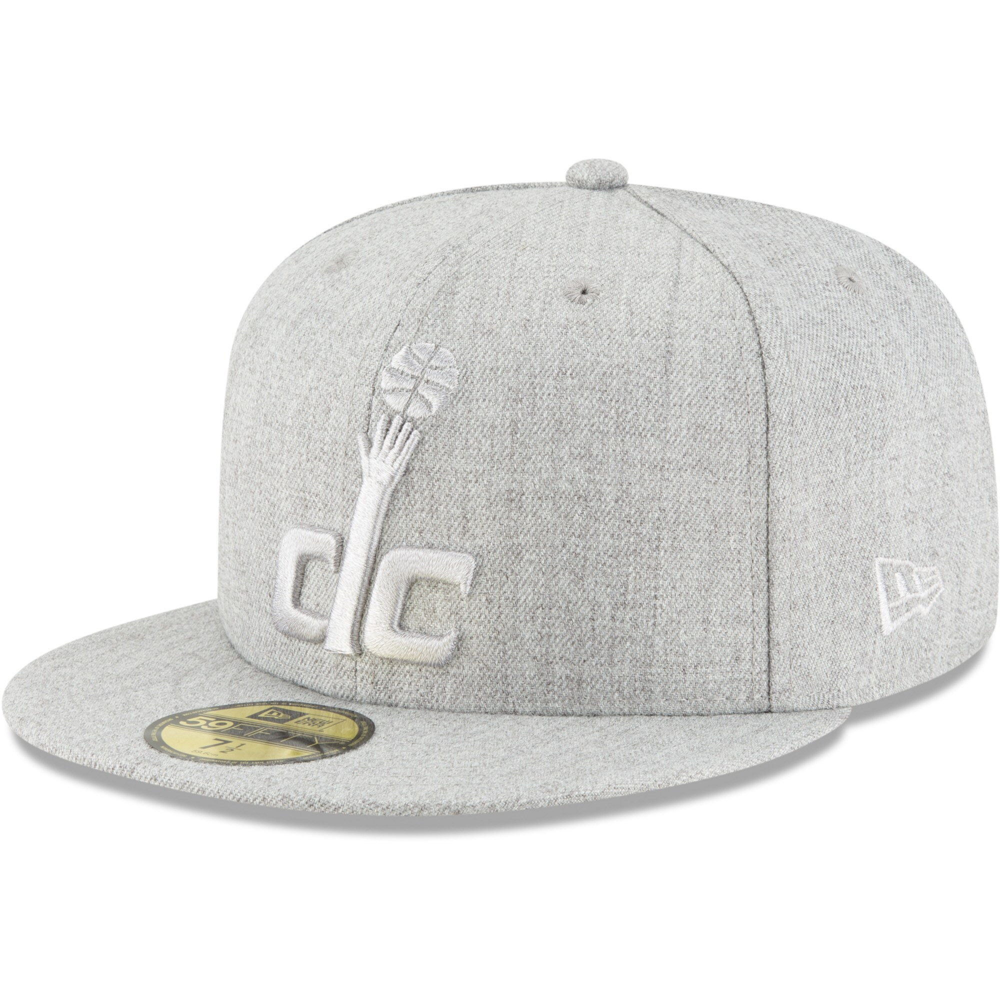 Washington Wizards New Era Twisted Frame 59FIFTY Fitted Hat - Gray